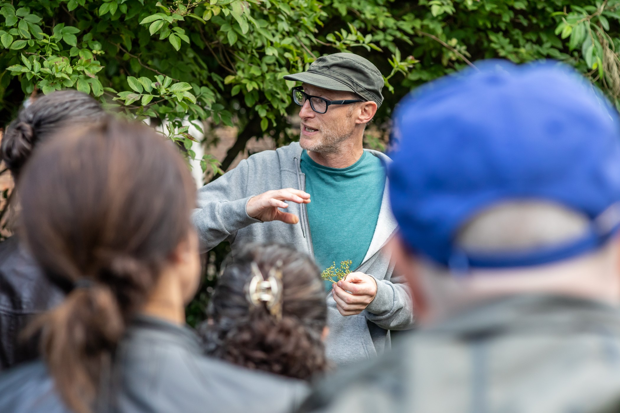 John Rensten leading a guided foraging tour