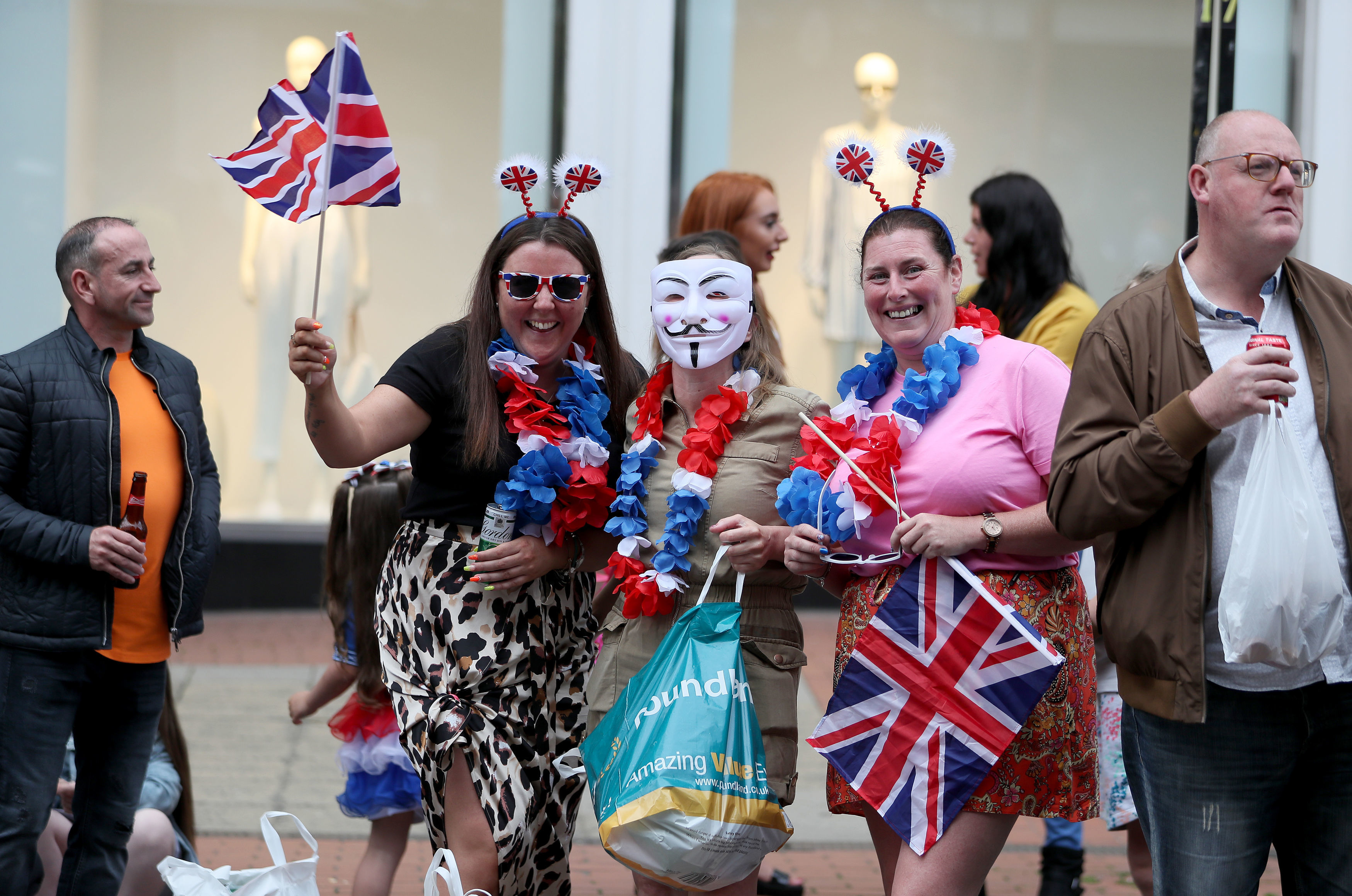 Supporters attend an Orange Order parade in  Belfast