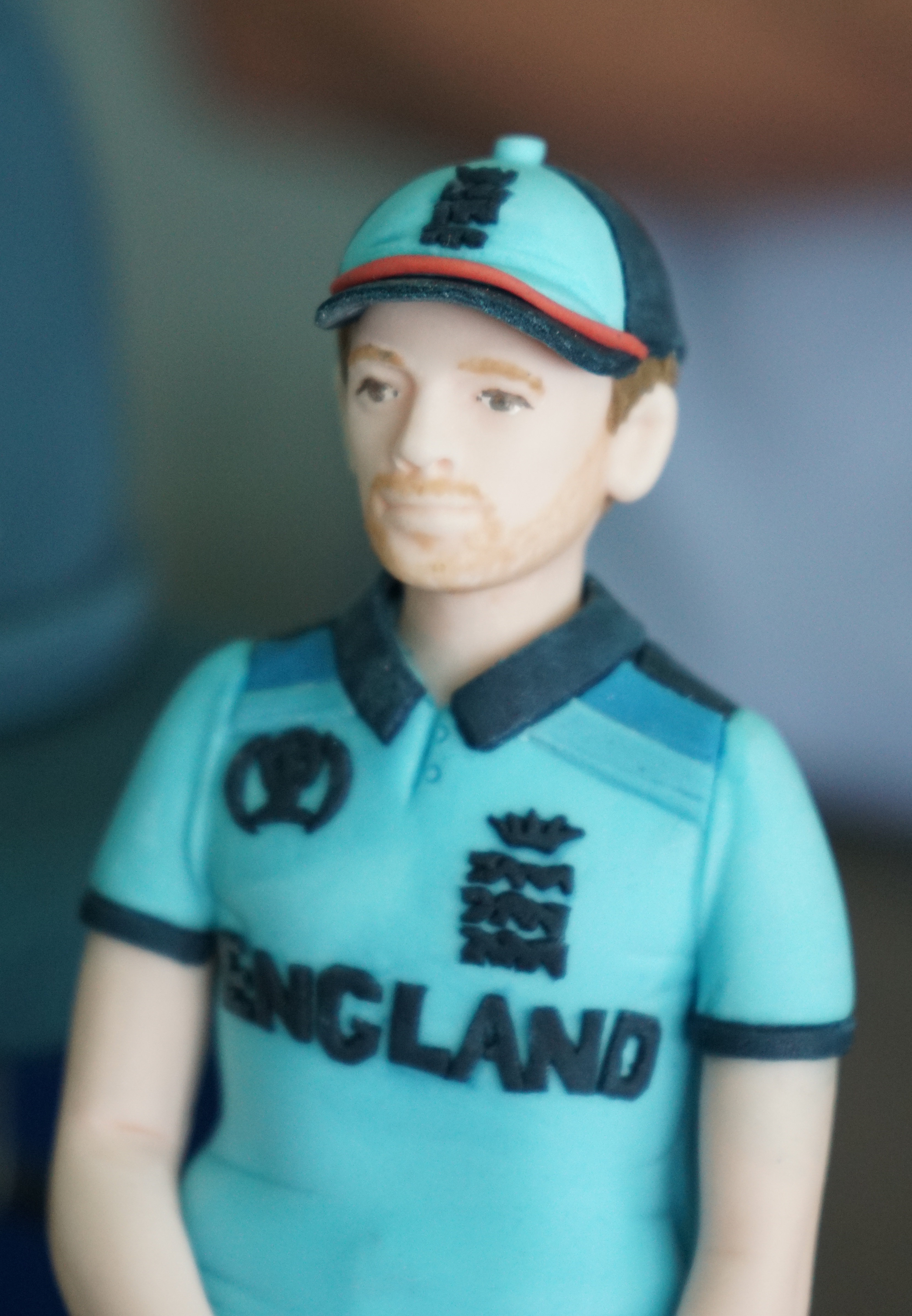 England captain Eoin Morgan as depicted on the cake