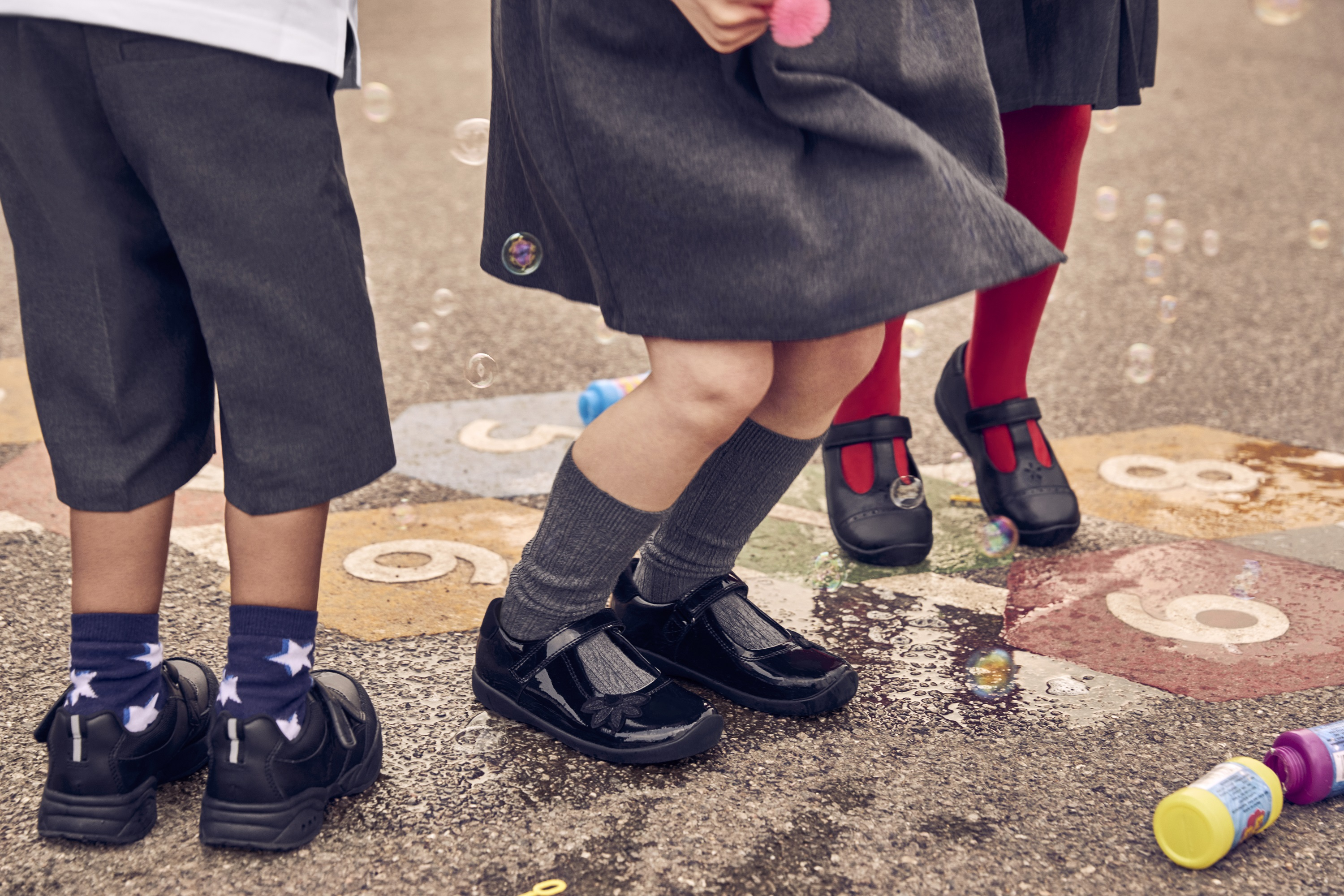 Kids in their school shoes