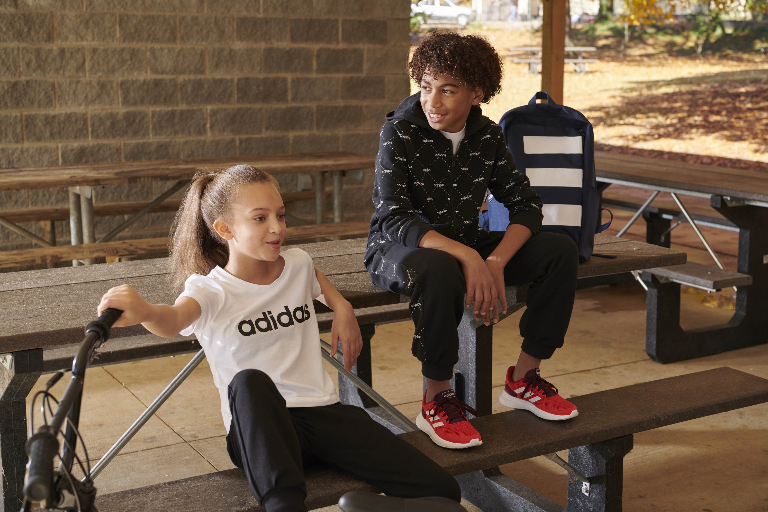 Kids in sportswear by Adidas