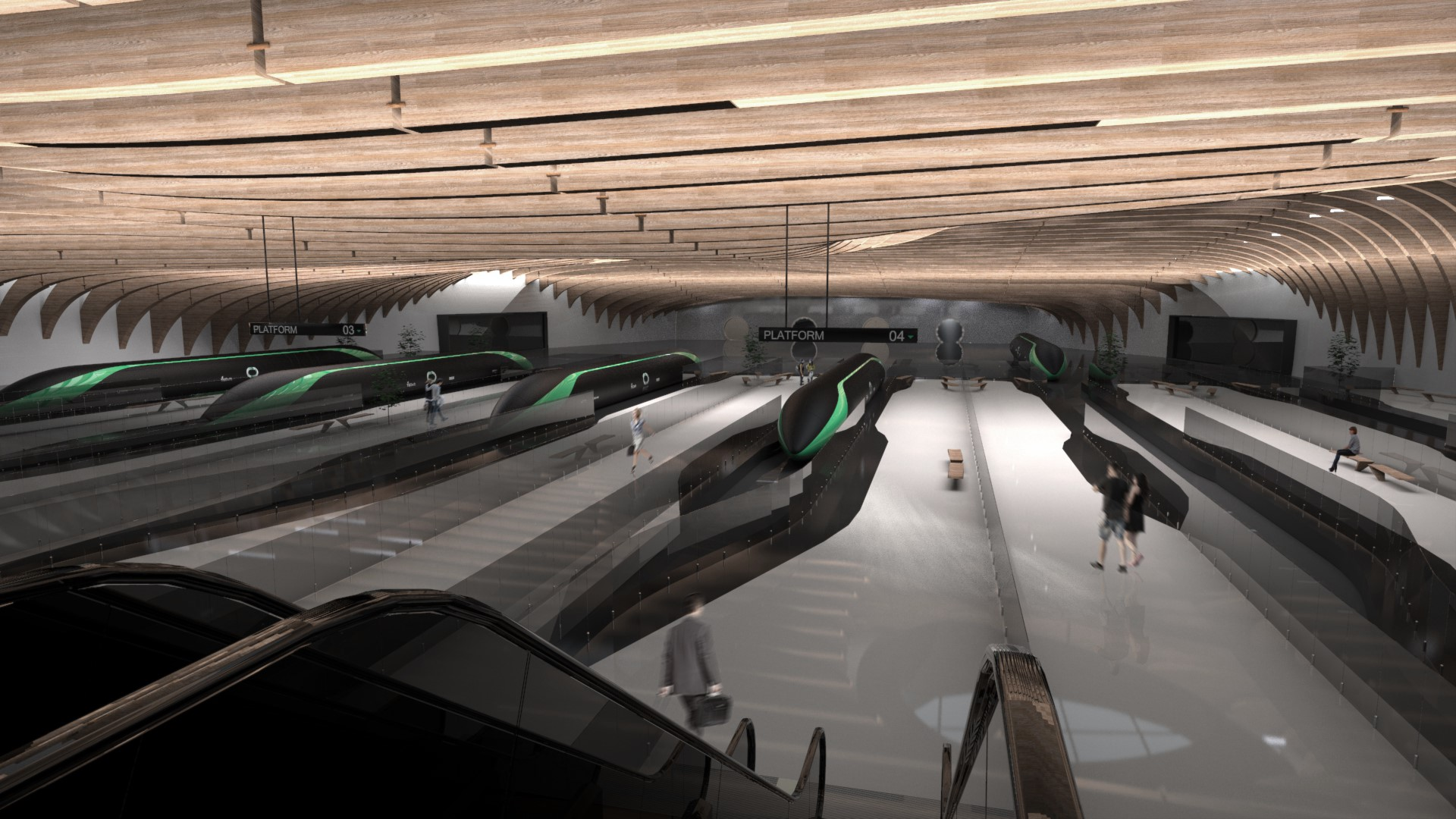 Concept for a Hyperloop station