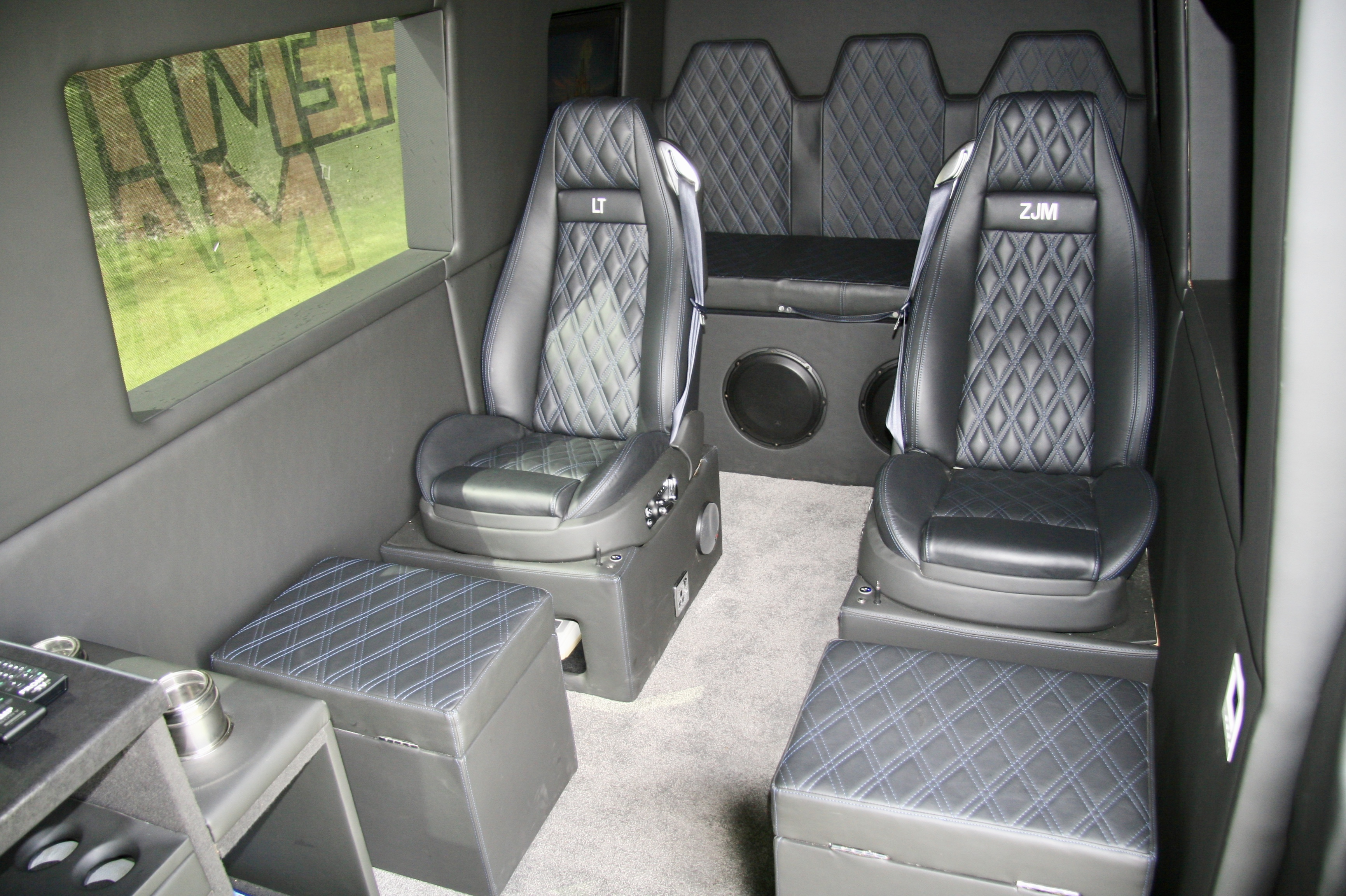 The seats feature leather quilting