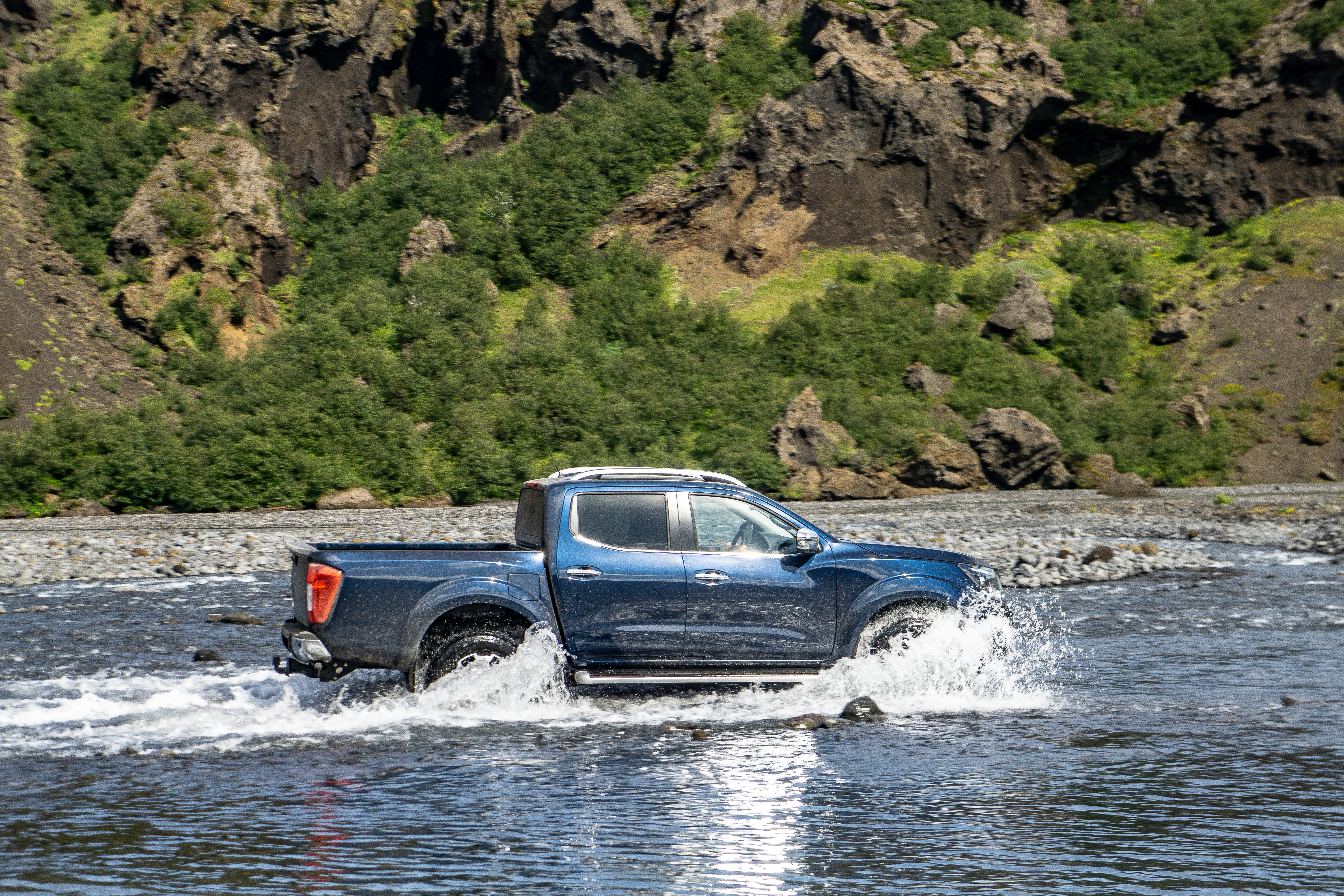 The Navara's wading ability is put to the test
