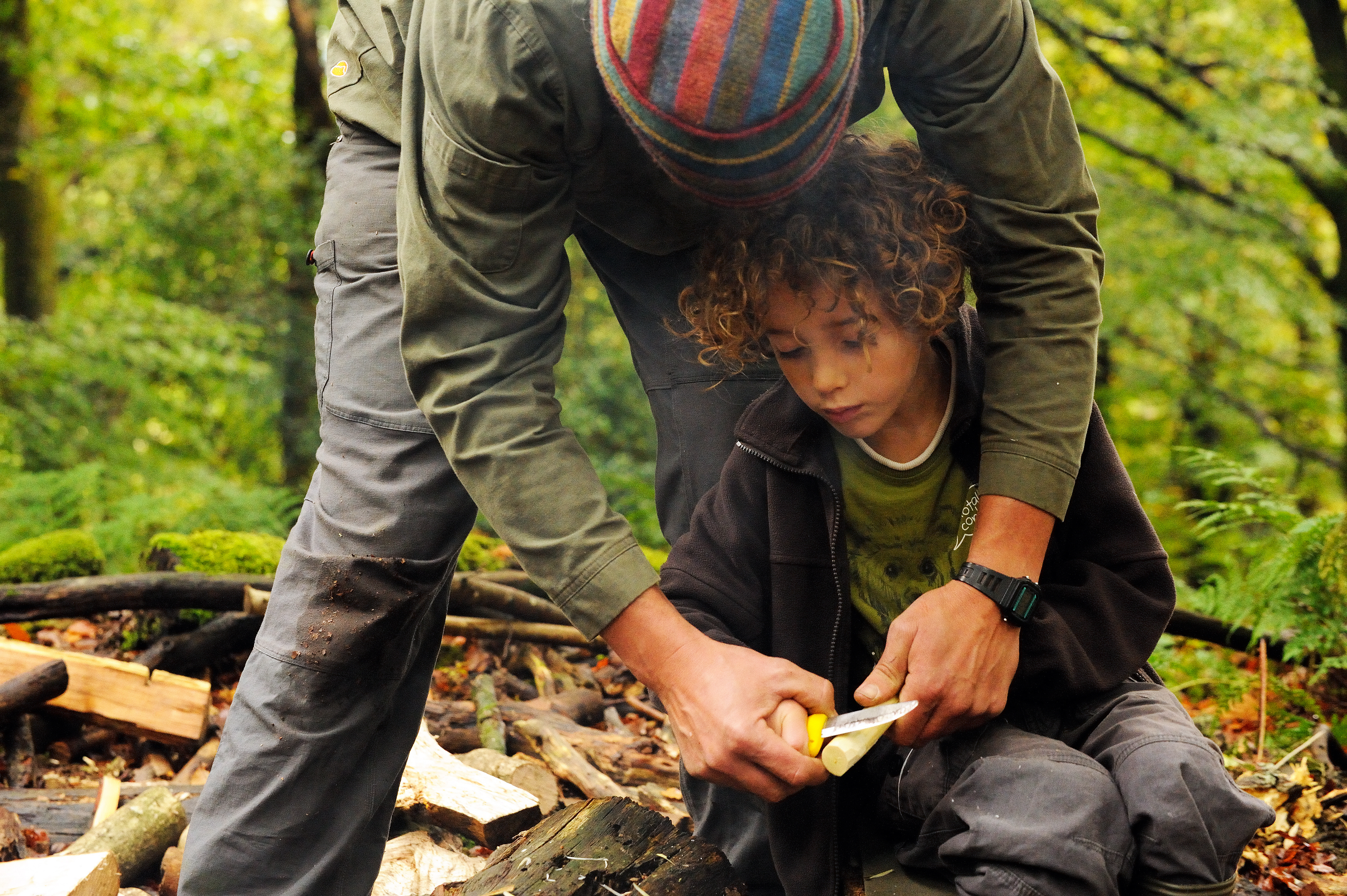 Learn bushcraft skills (John Millar/National Trust Images/PA)