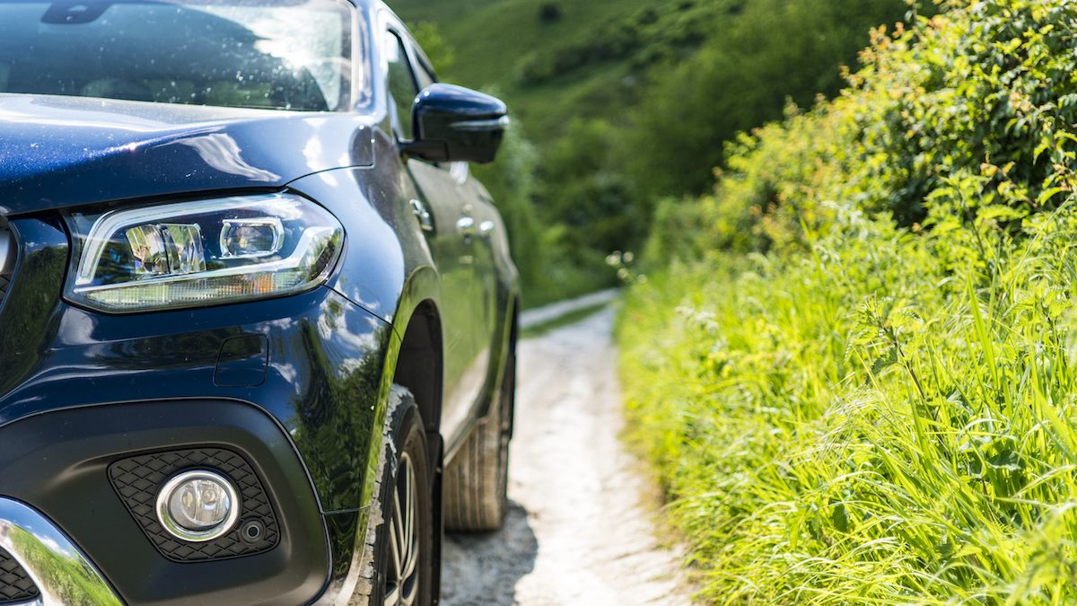 The X-Class is a big vehicle to move around