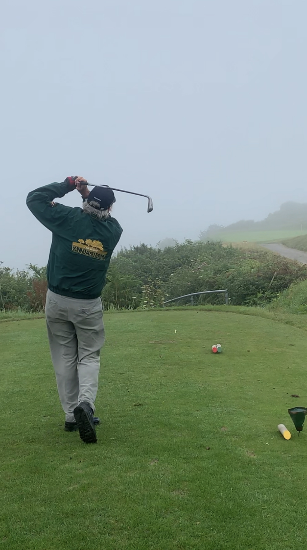 Photo dated 22/7/19 of Michael Douglas playing golf at Langland Bay Golf Club, supplied by Andrew Minty