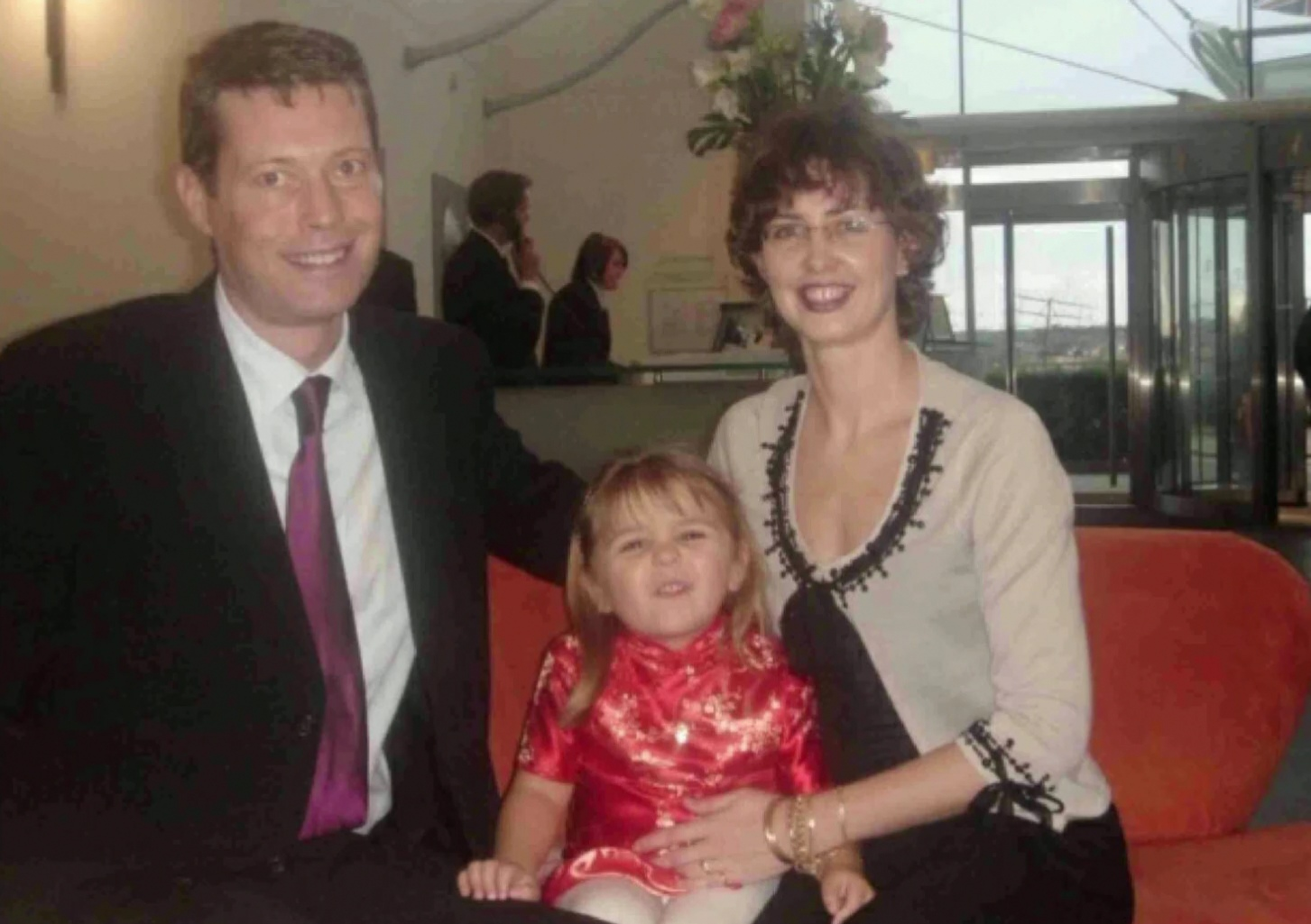 Undated handout photo of Paul Summers, Monica Summers, and Tia Summers (centre) supplied by Infected Blood Inquiry