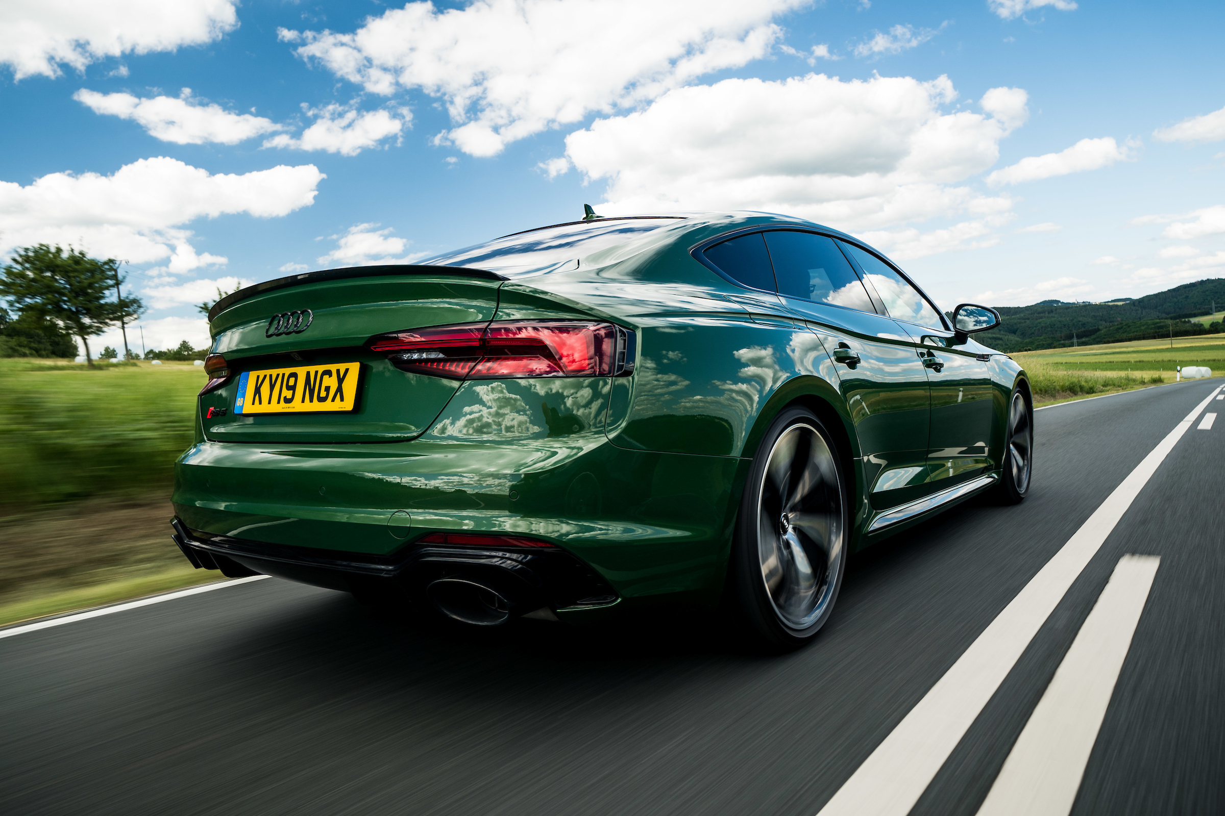 The RS5 rides well at speed