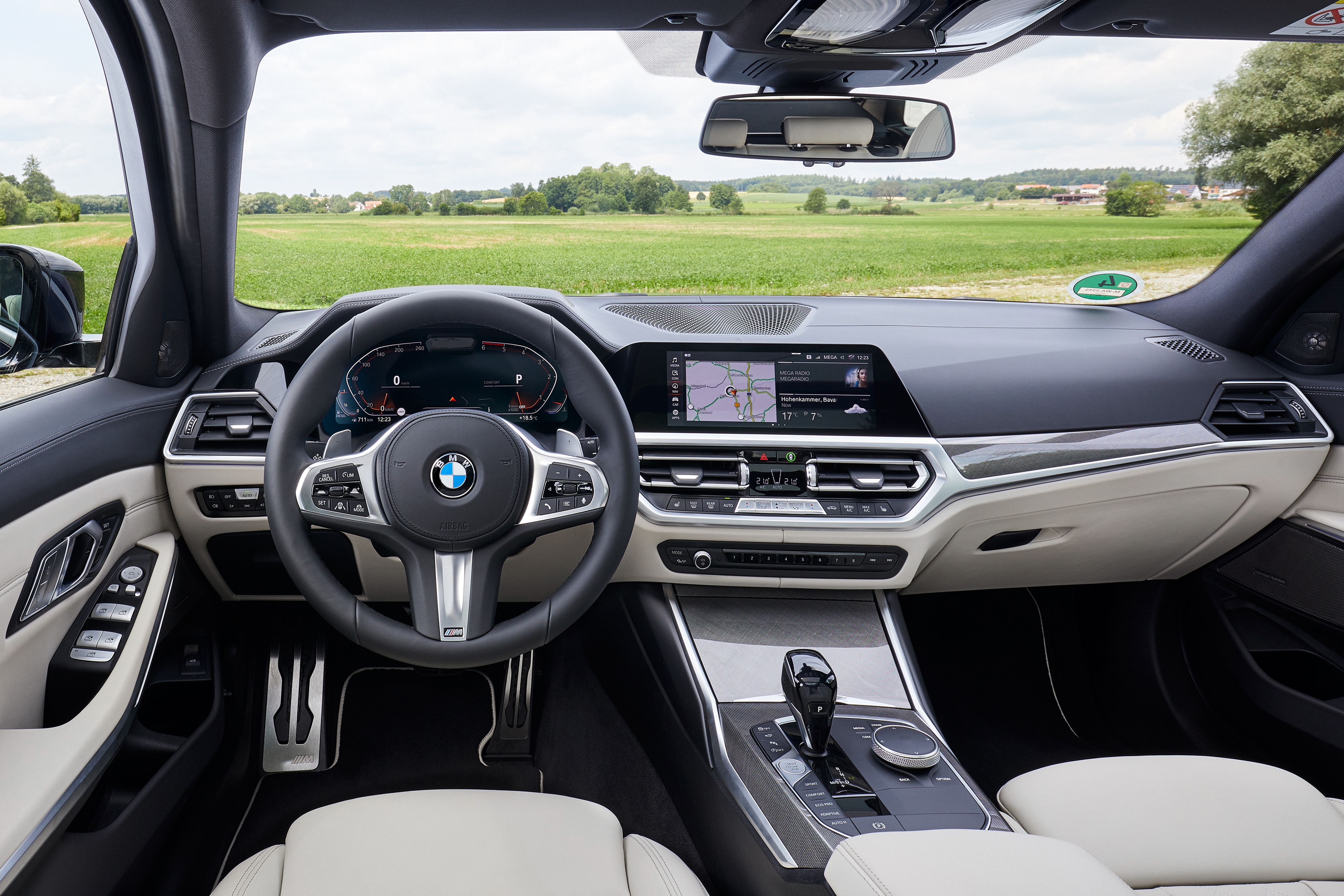 The interior of the 3 Series is well made and intuitively designed