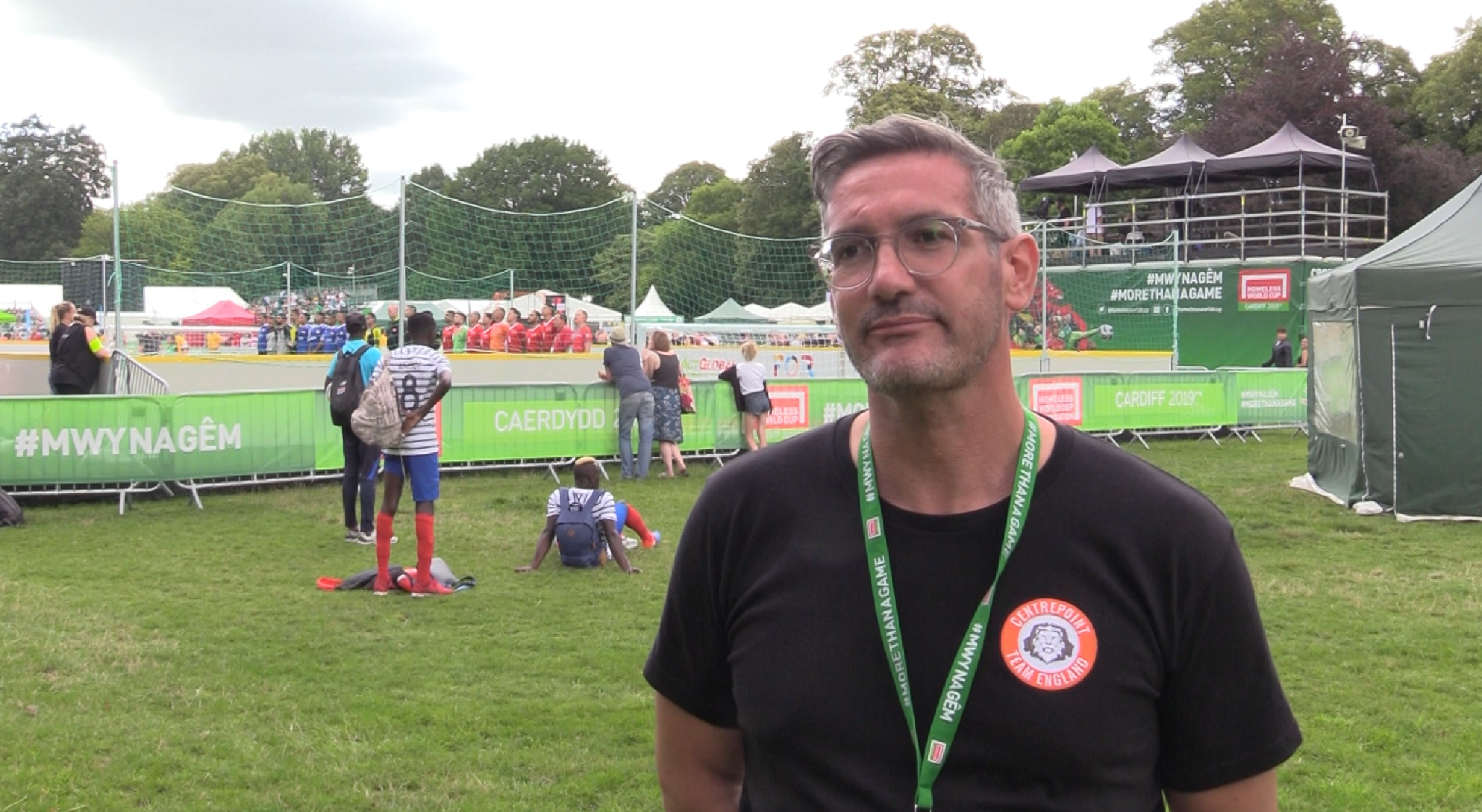 Craig McManus, manager of the England men's team at the 2019 Homeless World Cup
