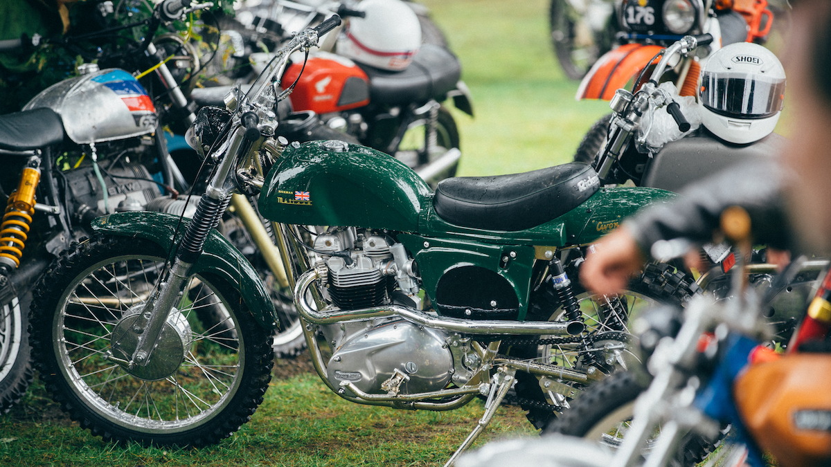 The types of motorcycles at the event are wide and varied