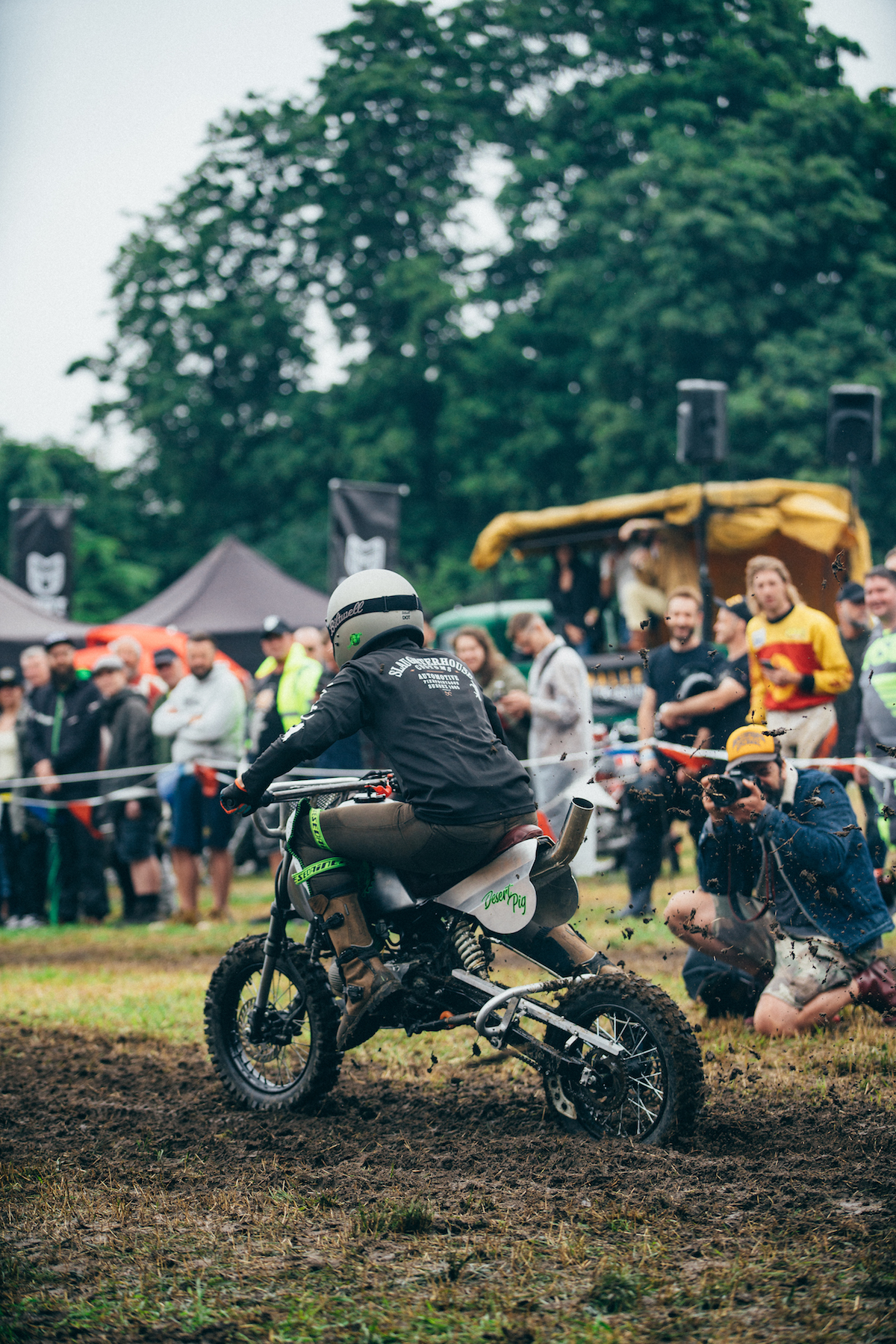 All manner of motorcycles take part in the races