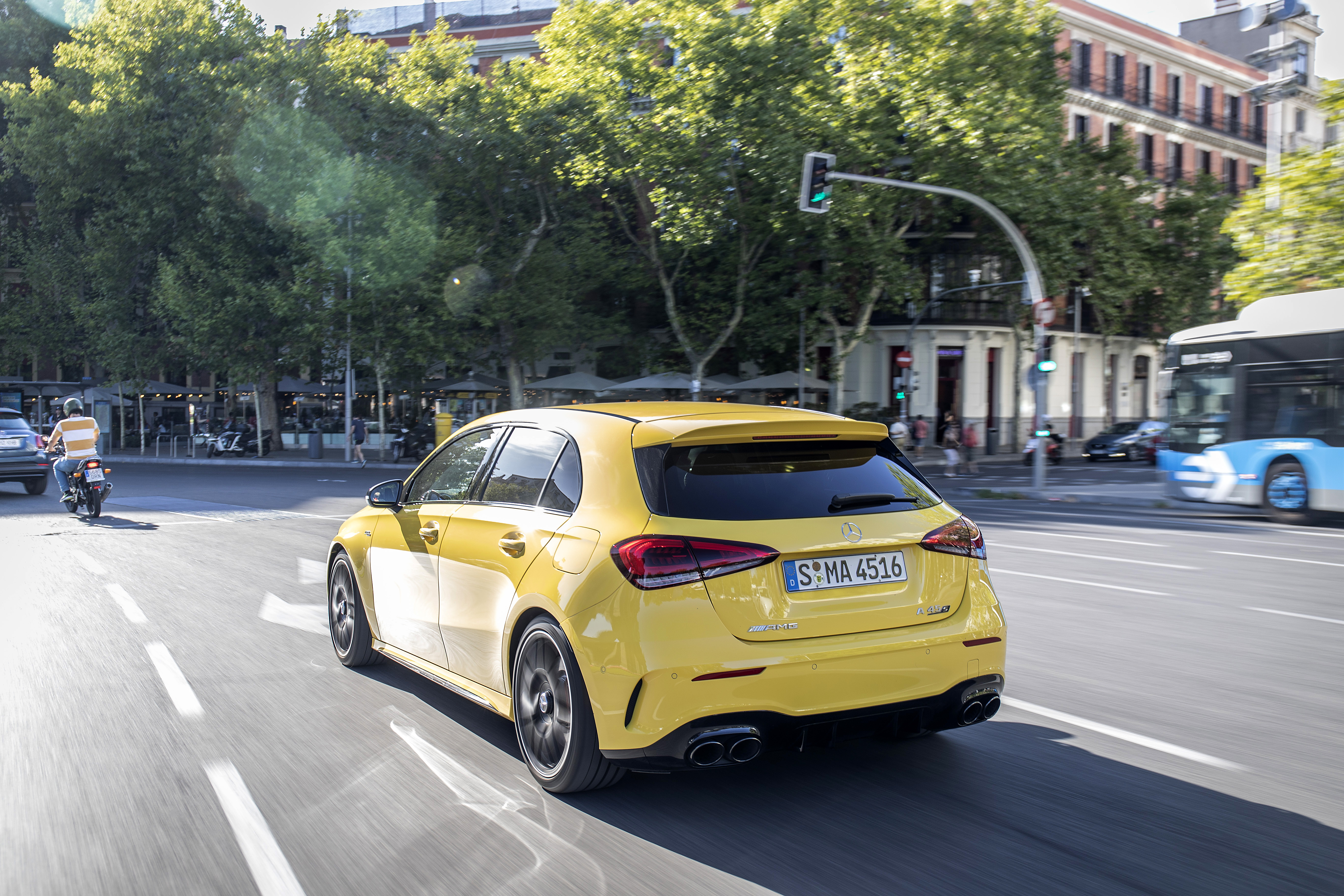 Compact proportions mean the A 45 doesn't feel unwieldy