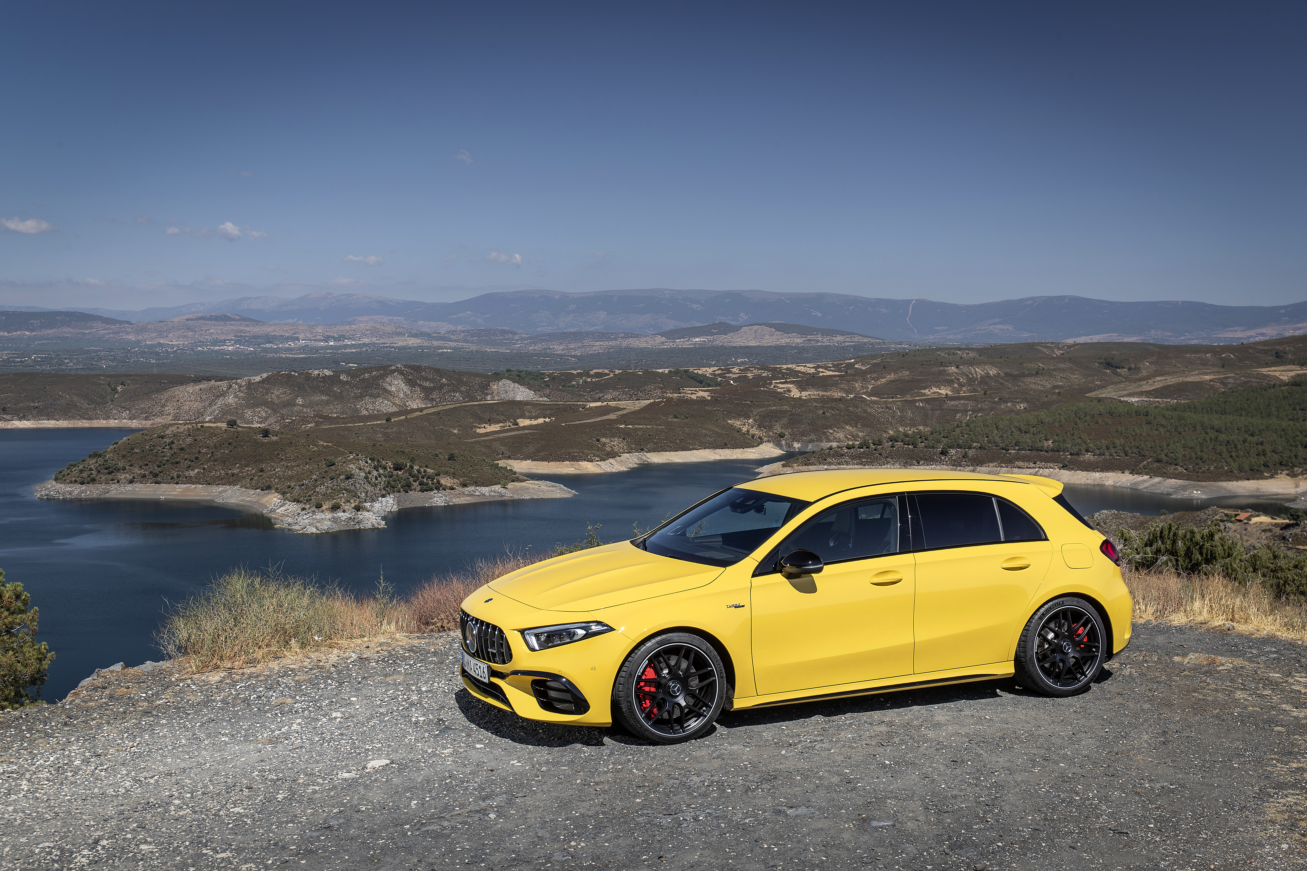 Bright yellow paint helps the car to stand out