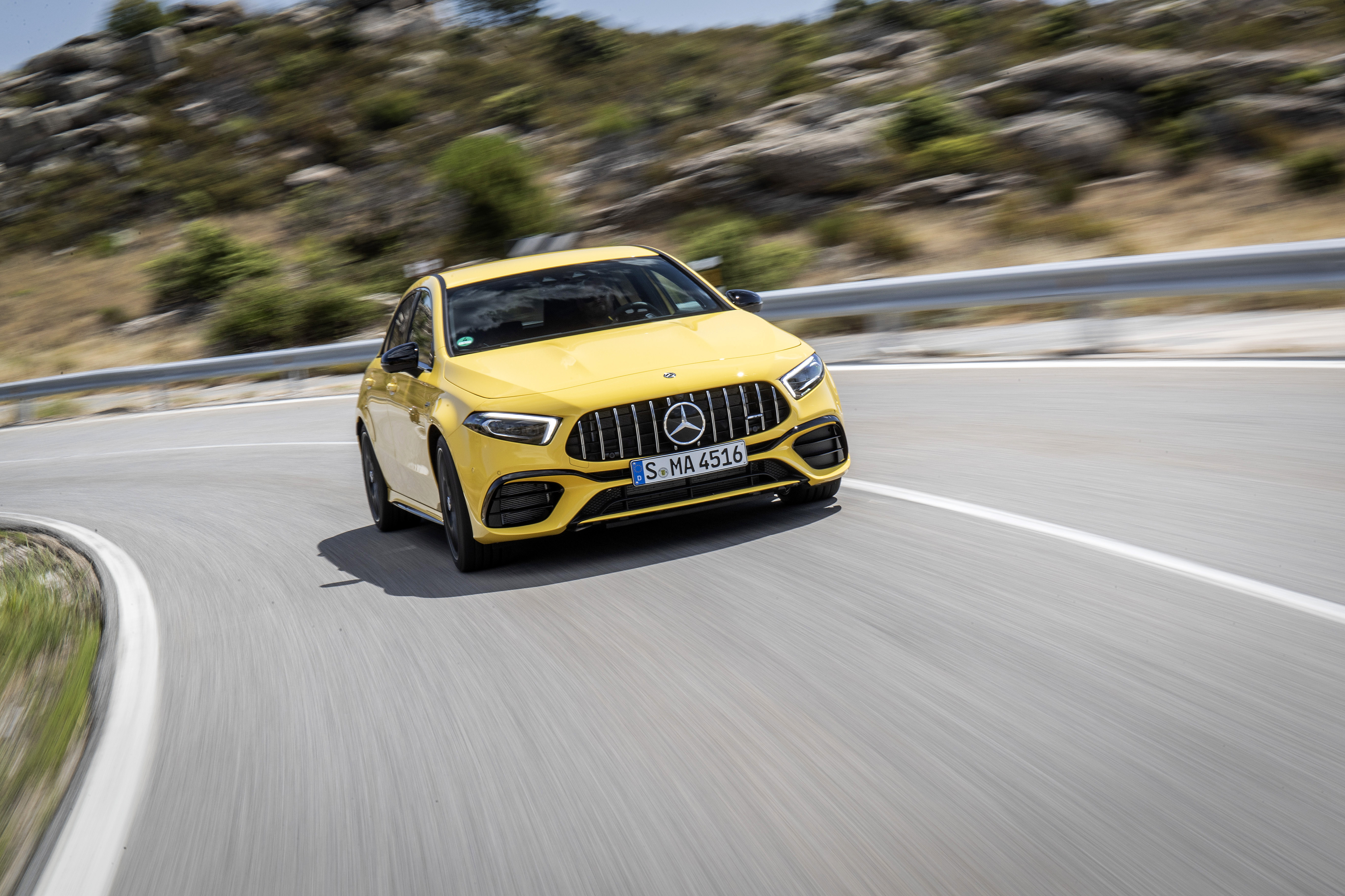 In the corners is where the A 45 comes alive