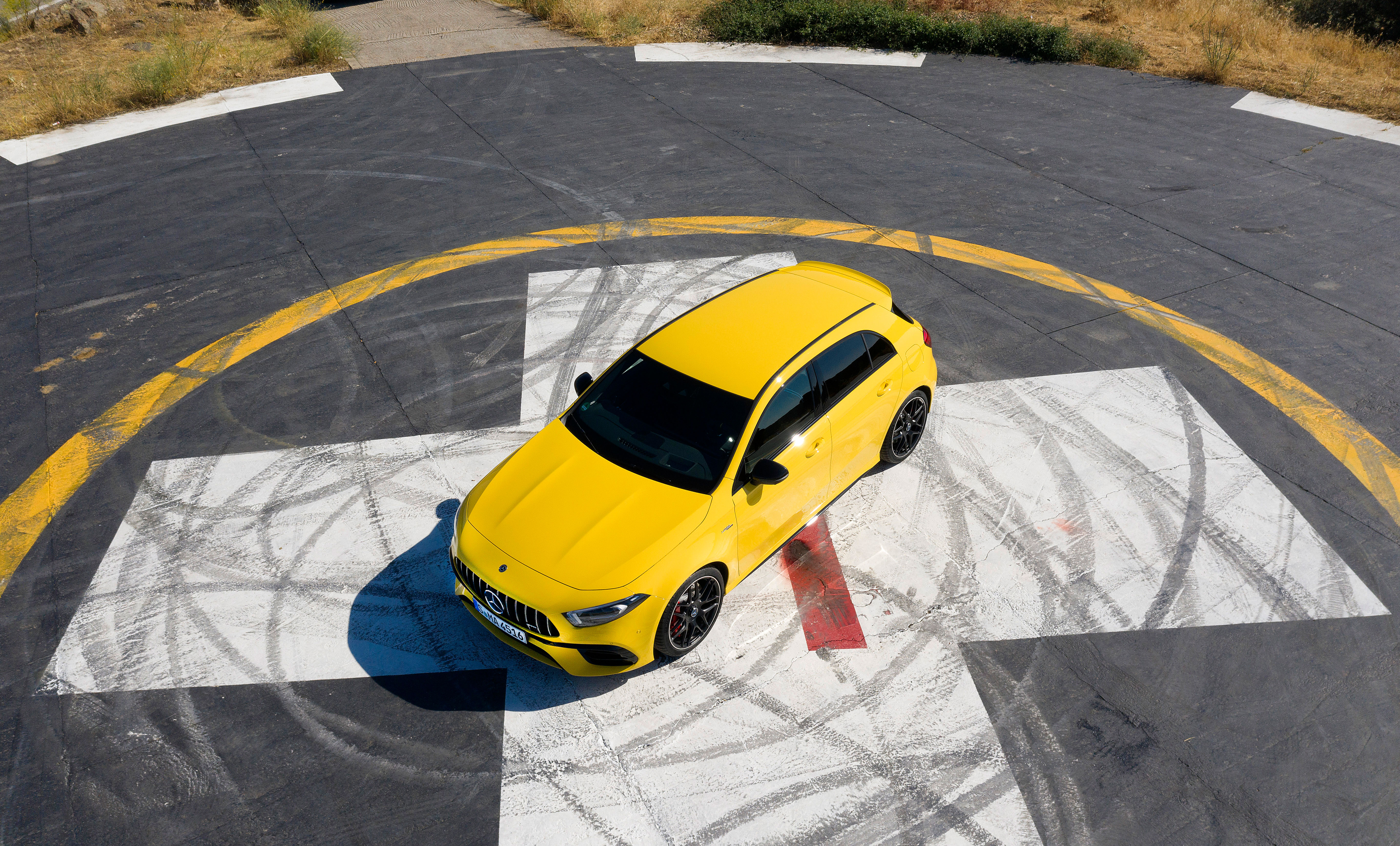 The A 45 blends outright performance and cornering ability