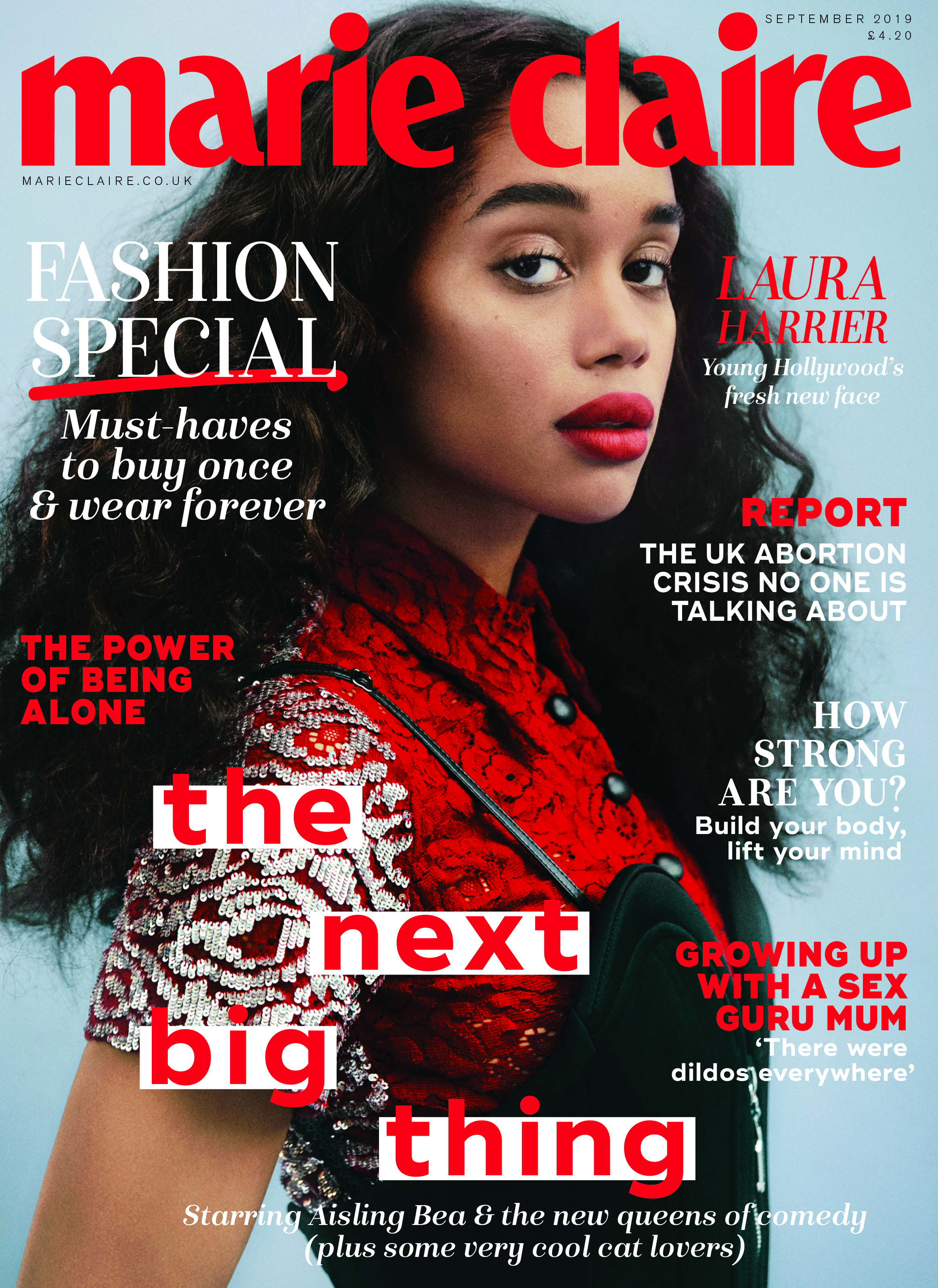 Laura Harrier in Marie Claire