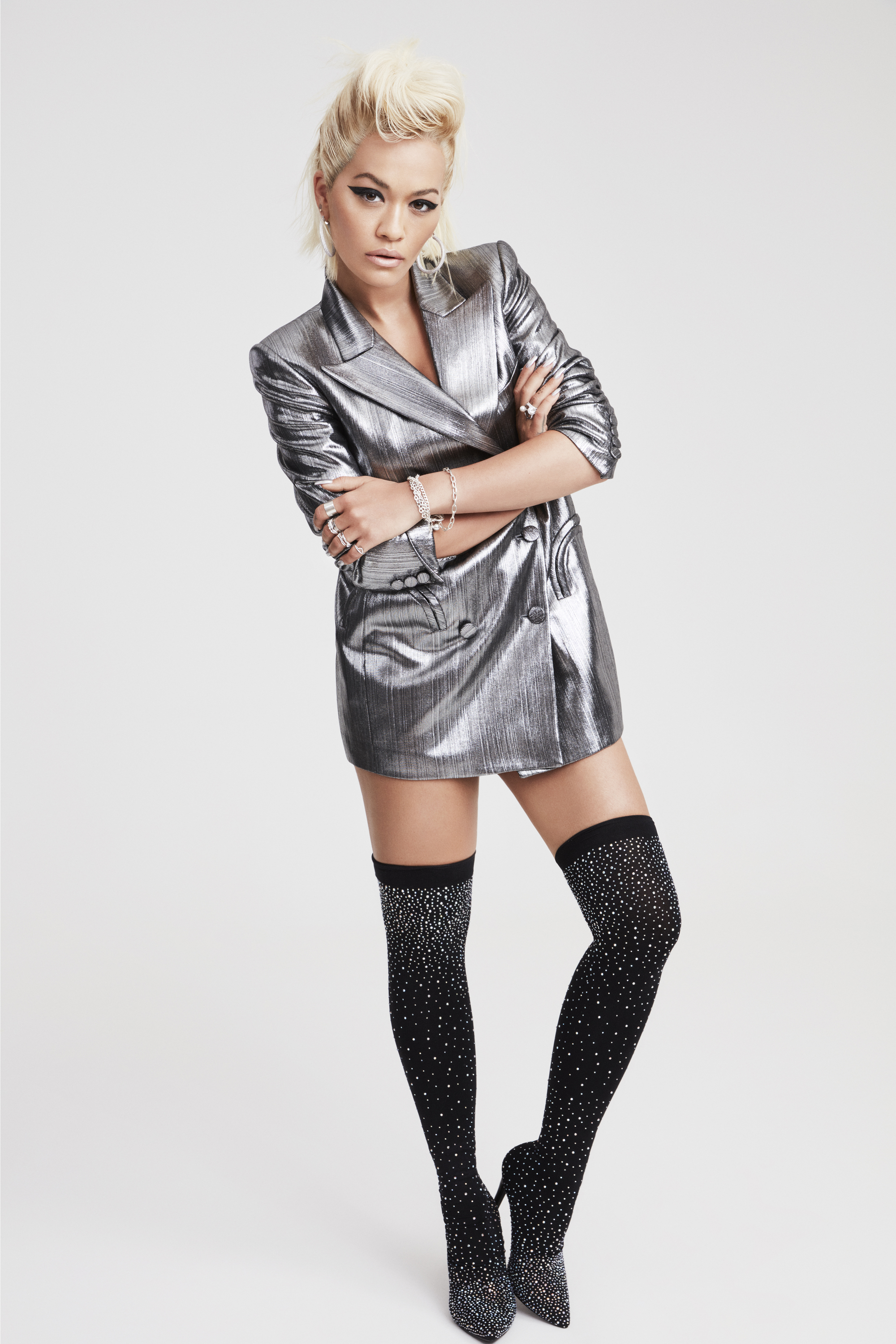 Rita Ora wearing shoes from her collection with Deichmann