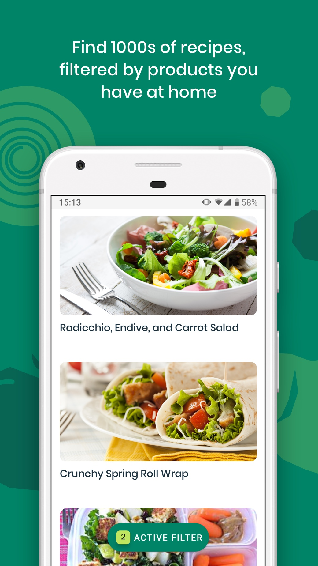 Screenshot of the Kitche app