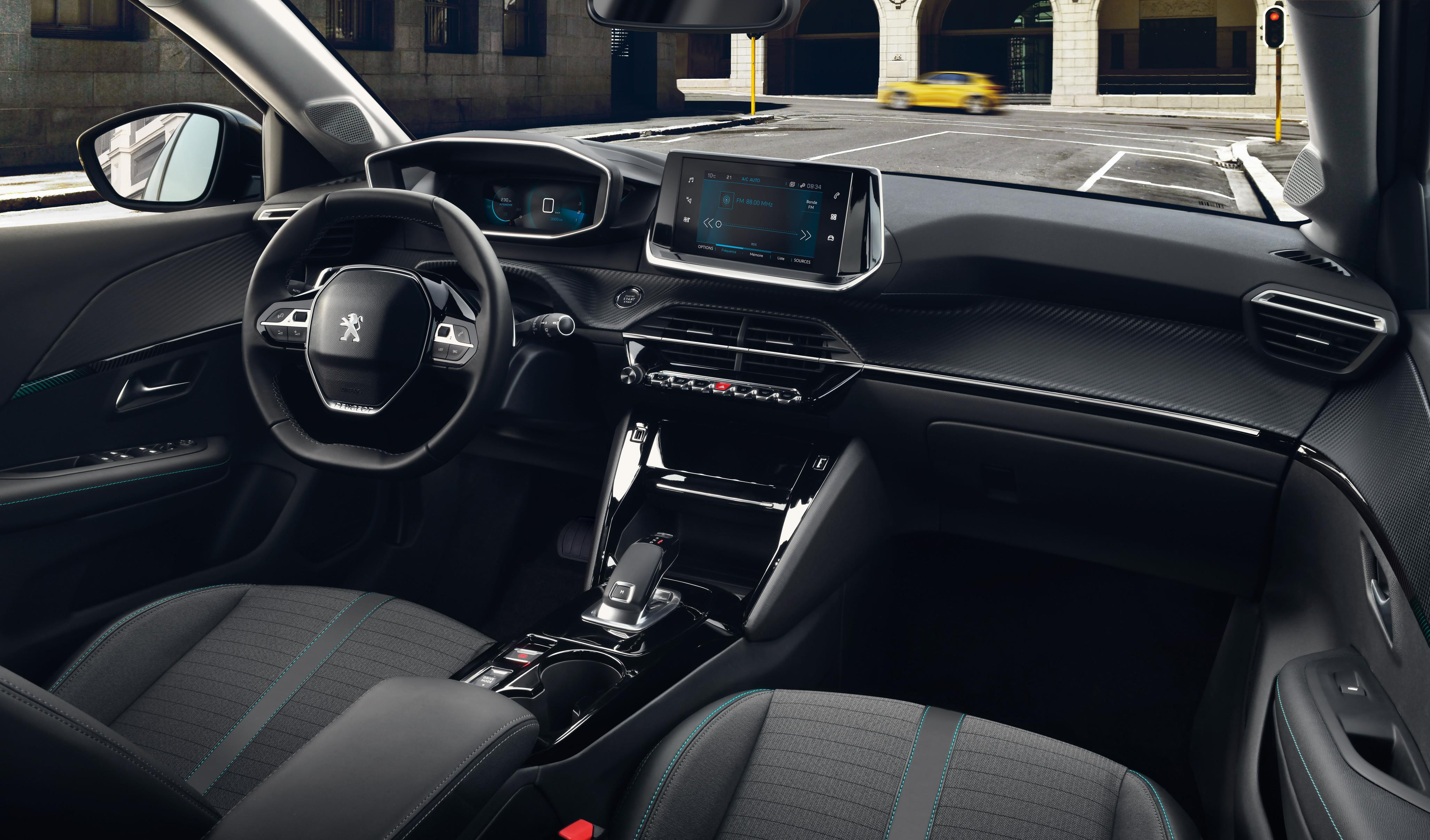 The 208's interior features many high-end finishes