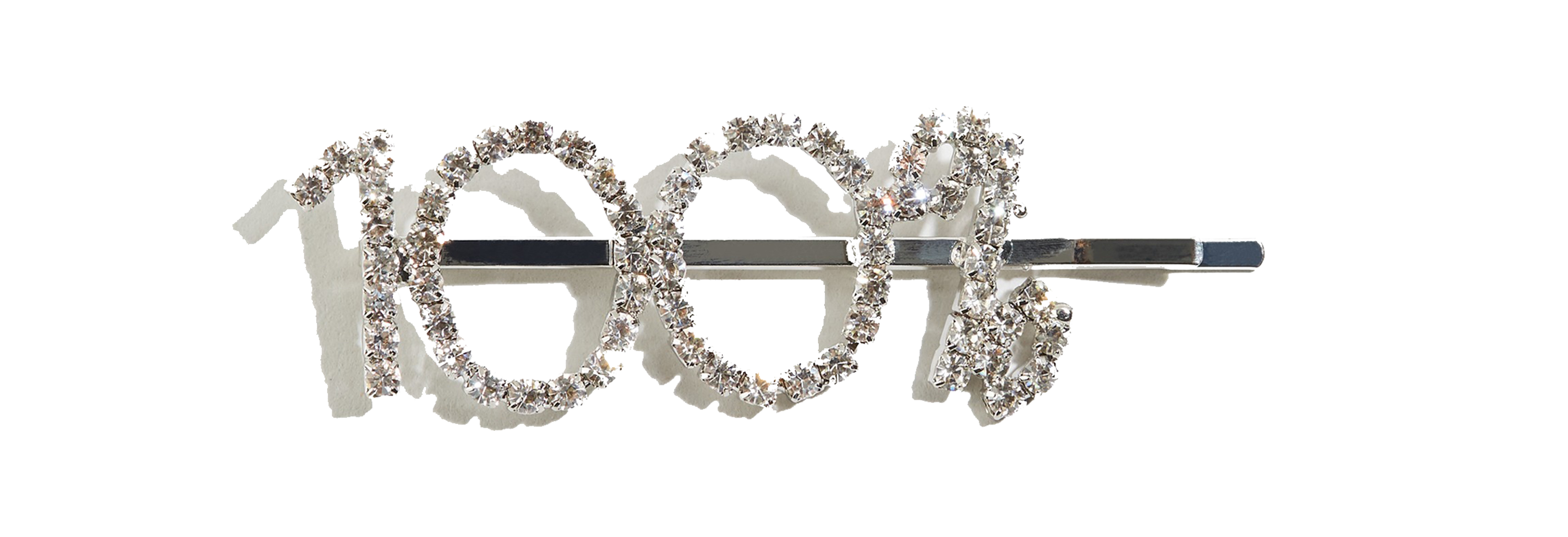 New Look Silver 100% Diamanté Hair Slide