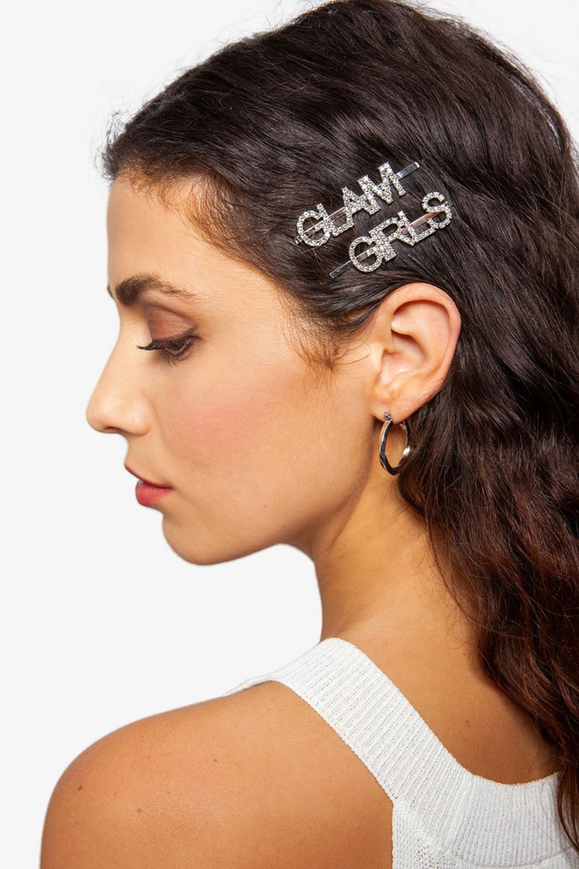 Topshop Glam Girl Crystal Hair Slides
