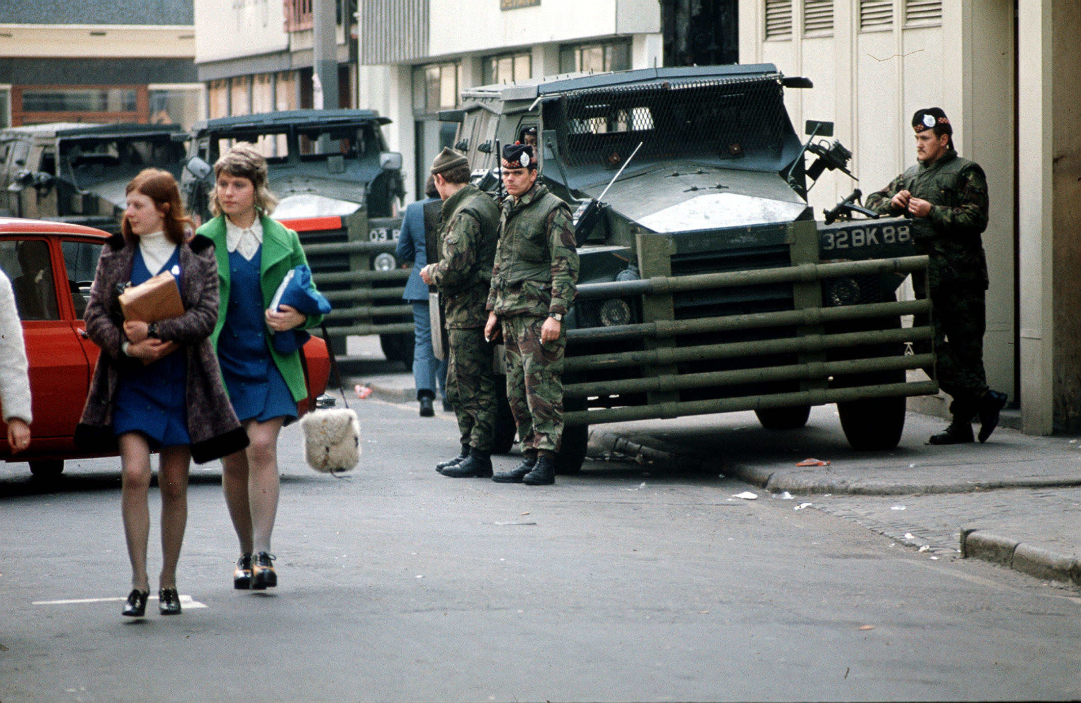 British troops in Belfast in 1973