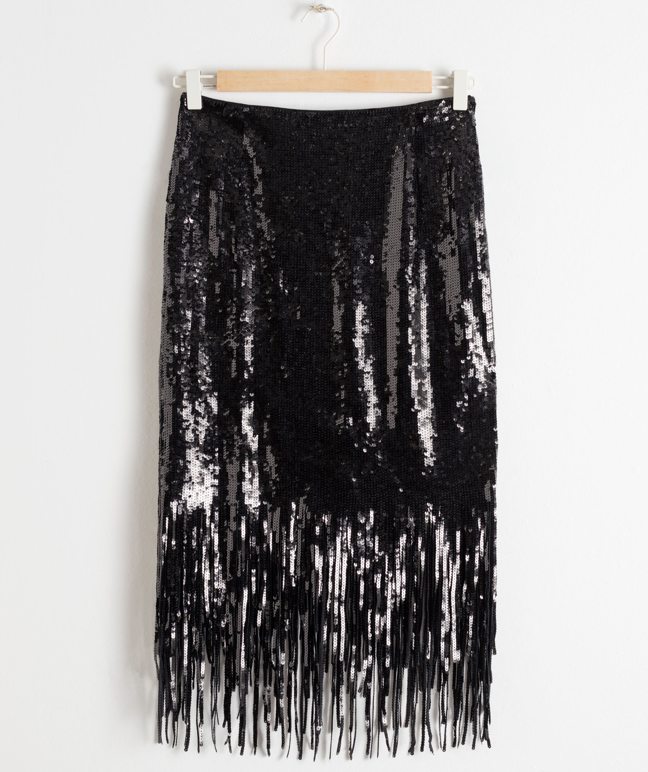 And Other Stories Sequin Fringe Pencil Skirt