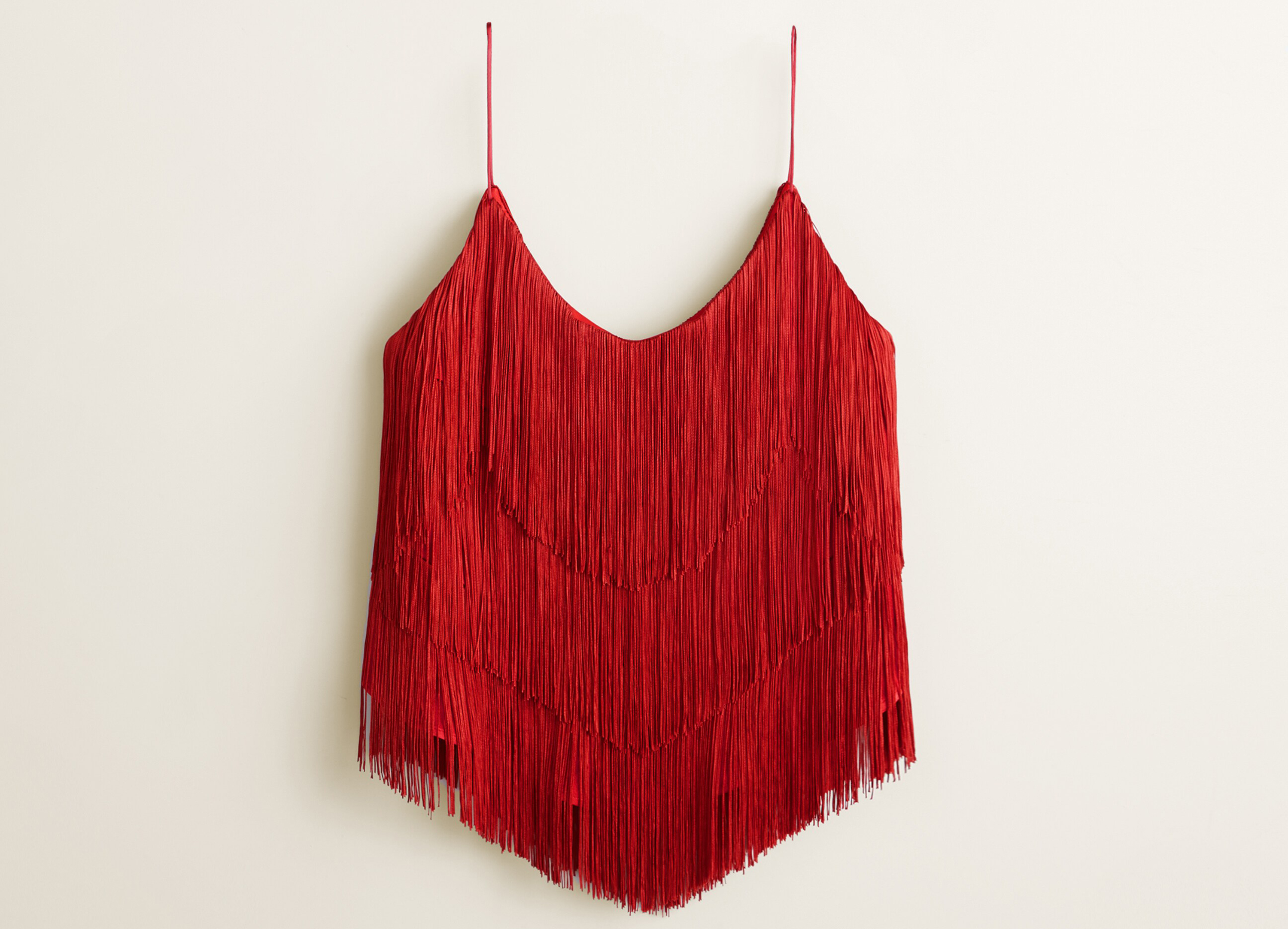 Mango Gala Collection Fringed Top