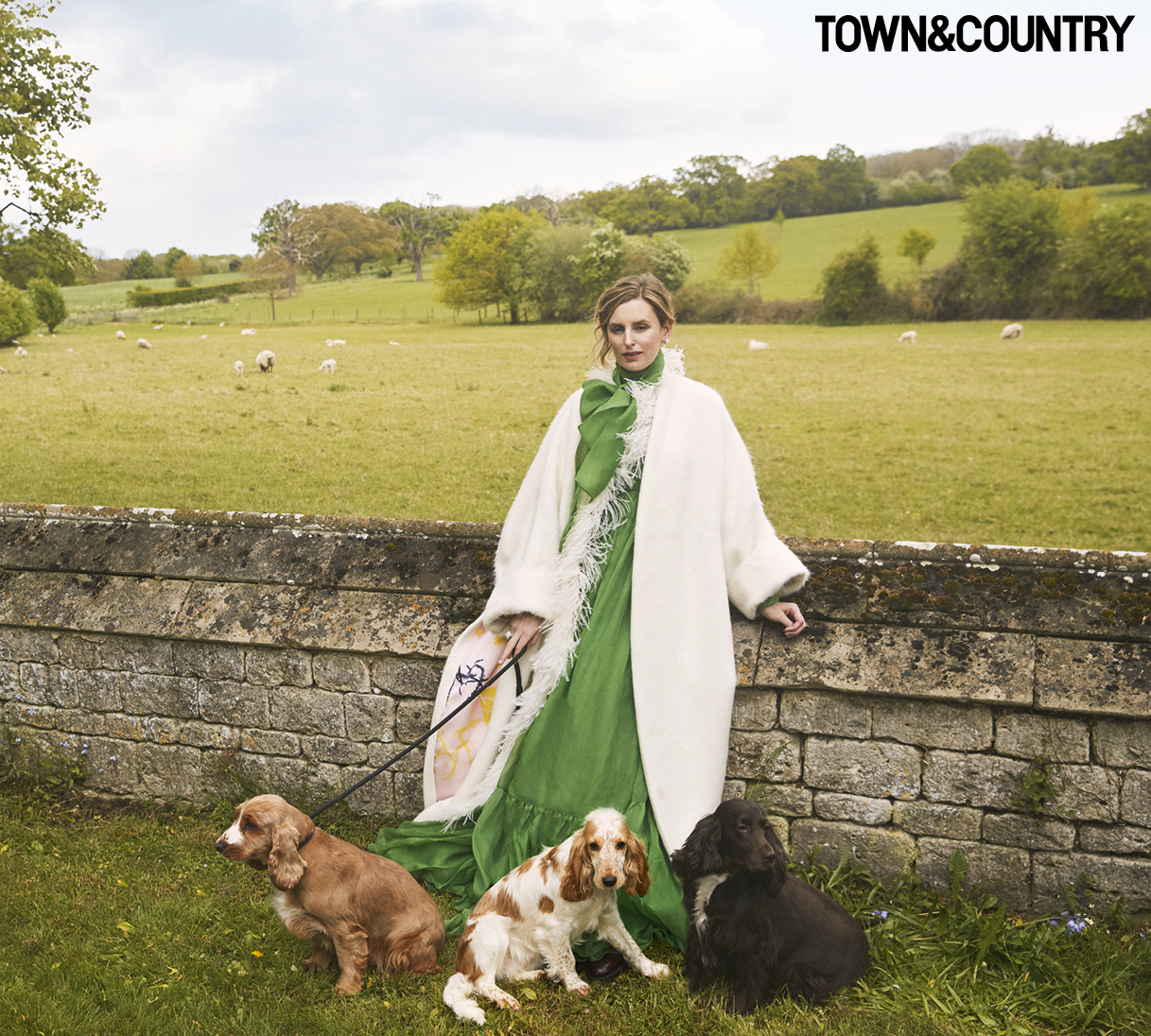 Laura Carmichael in Town & Country magazine