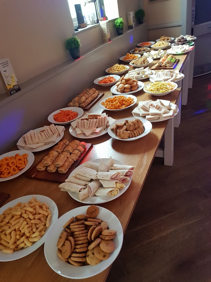 A buffet laid on for children at the Crown Inn