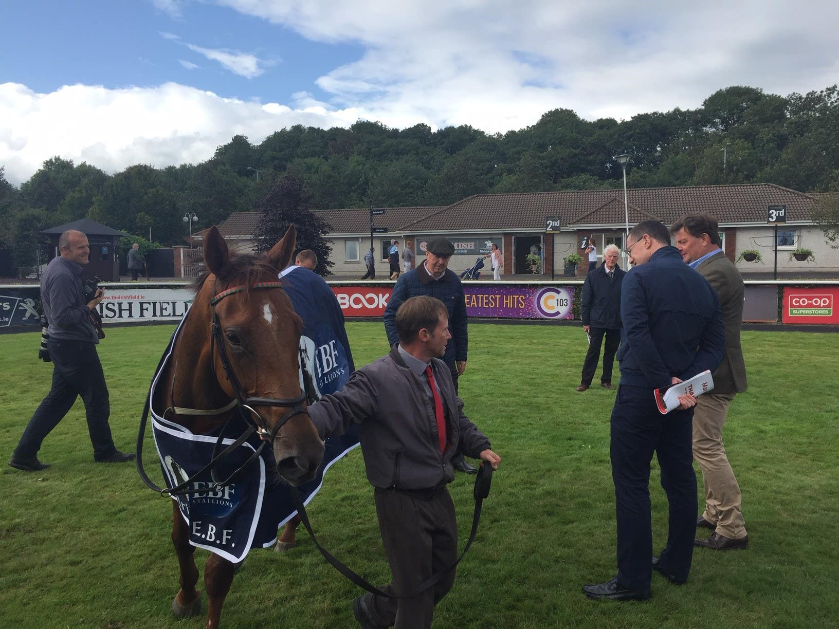 Connections enjoy Tarnawa's success in the Give Thanks Stakes at Cork (Thomas Weekes)
