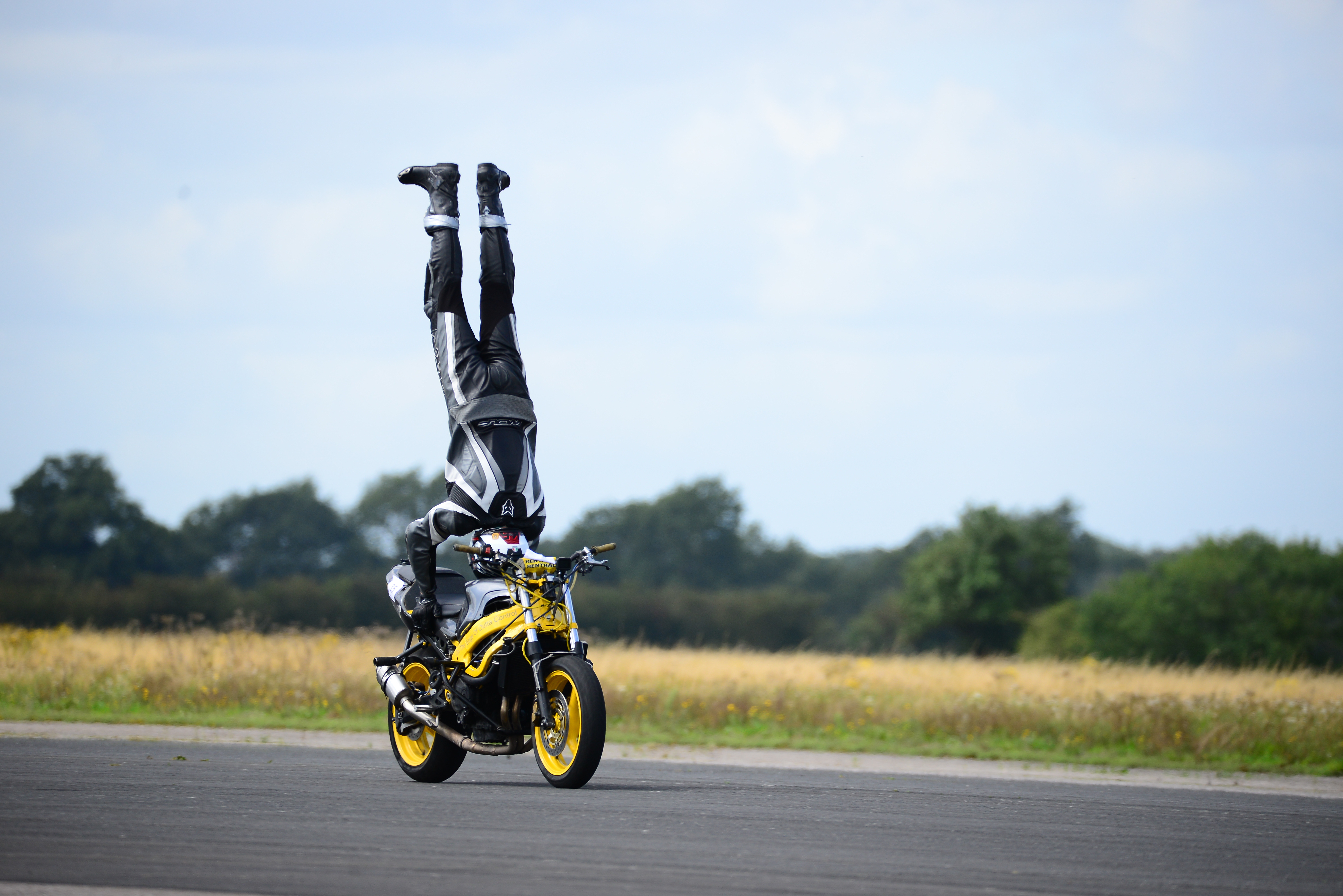 Marco George hit 76mph during his world record attempt in North Yorkshire
