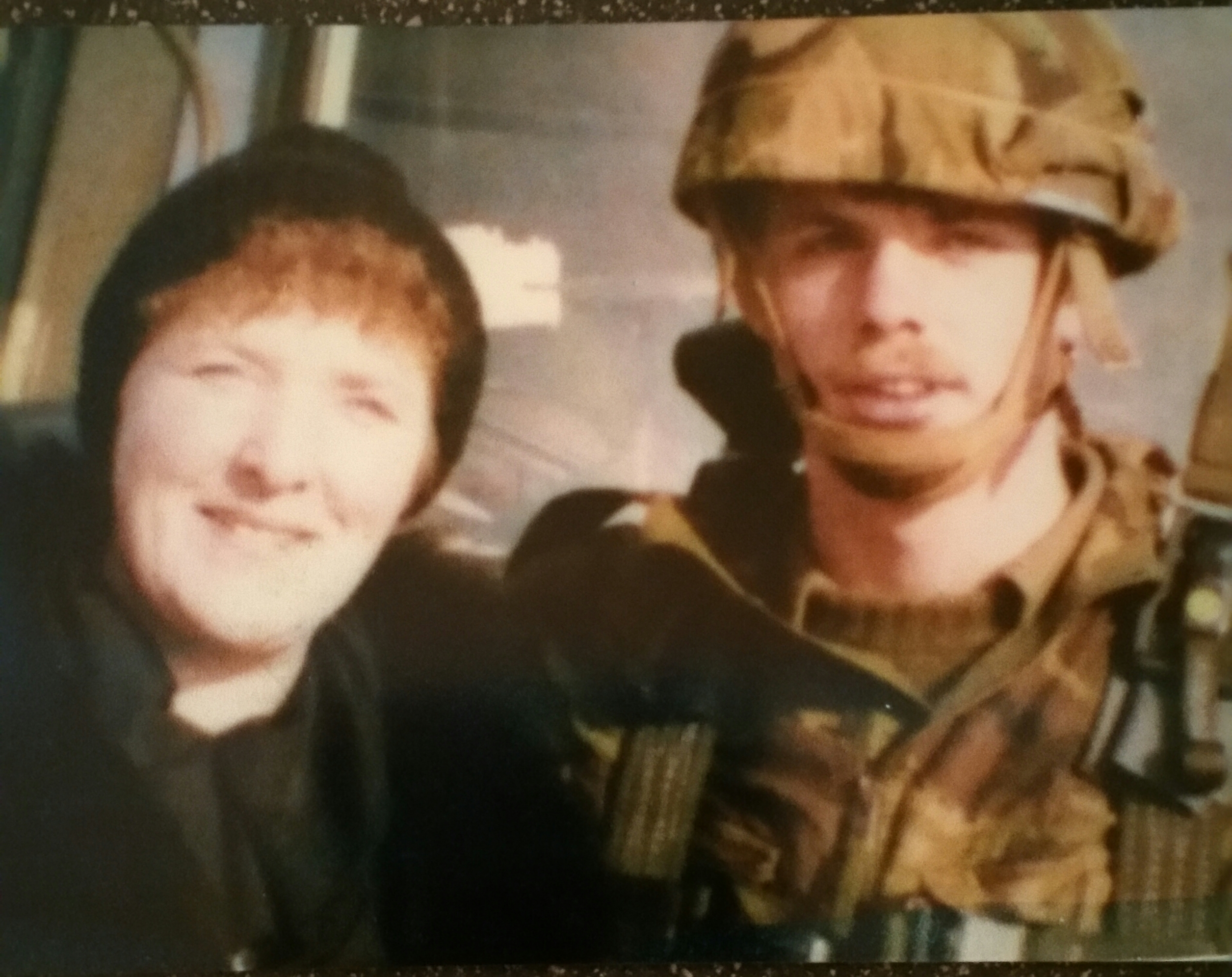 Tom Caughey as a young Paratrooper with his mother