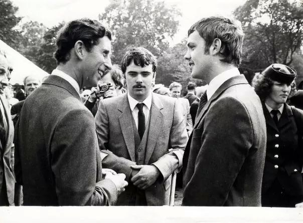 Narrow Water bomb survivors Tom Caughey and Paul Burns meet the Prince of Wales