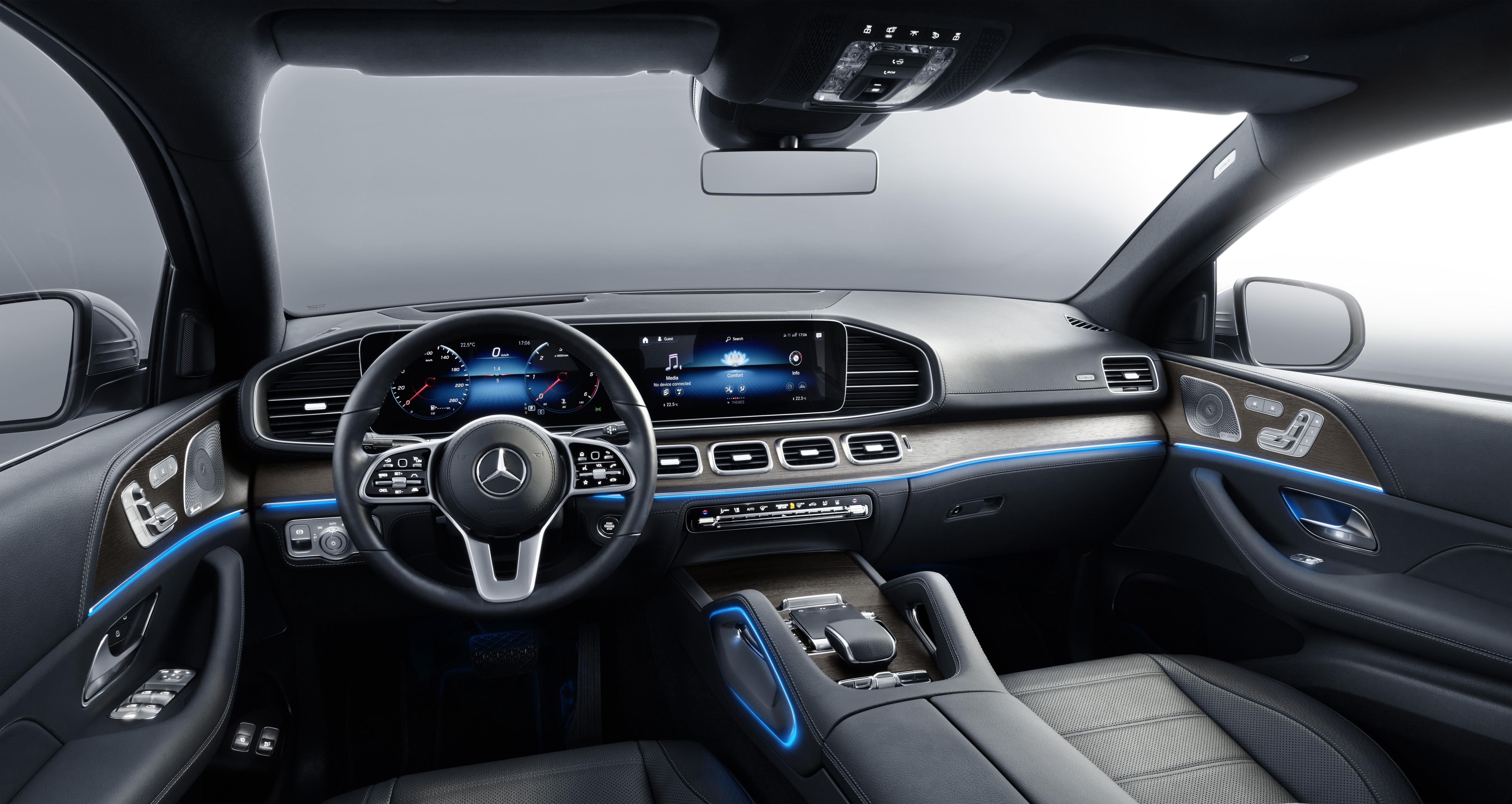 The Coupe's interior is near-identical to that of the regular GLE
