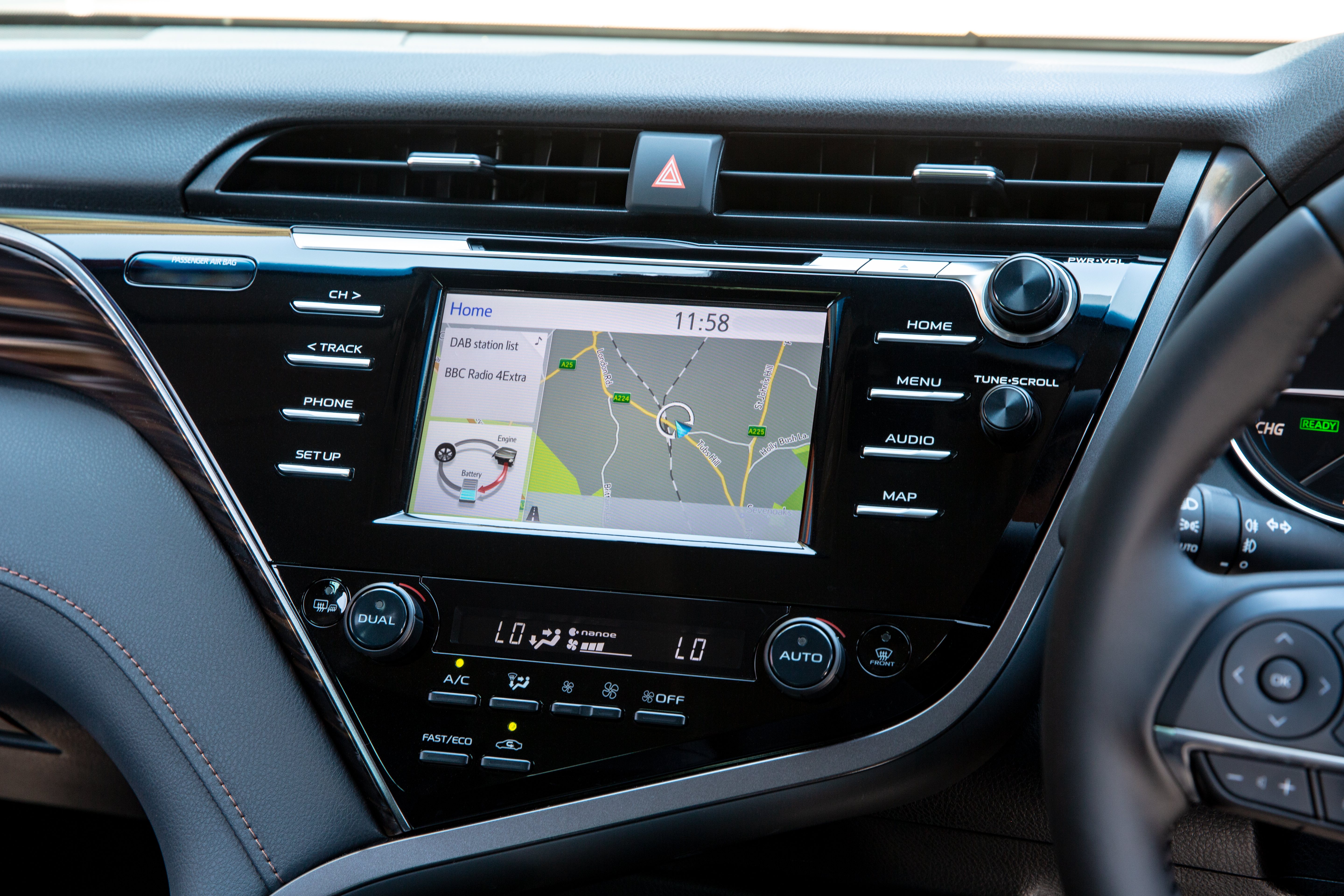 The Camry's infotainment lags behind other rivals