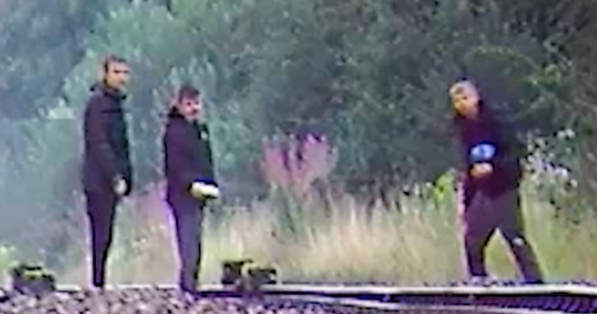 Police appeal over concrete debris on railway line