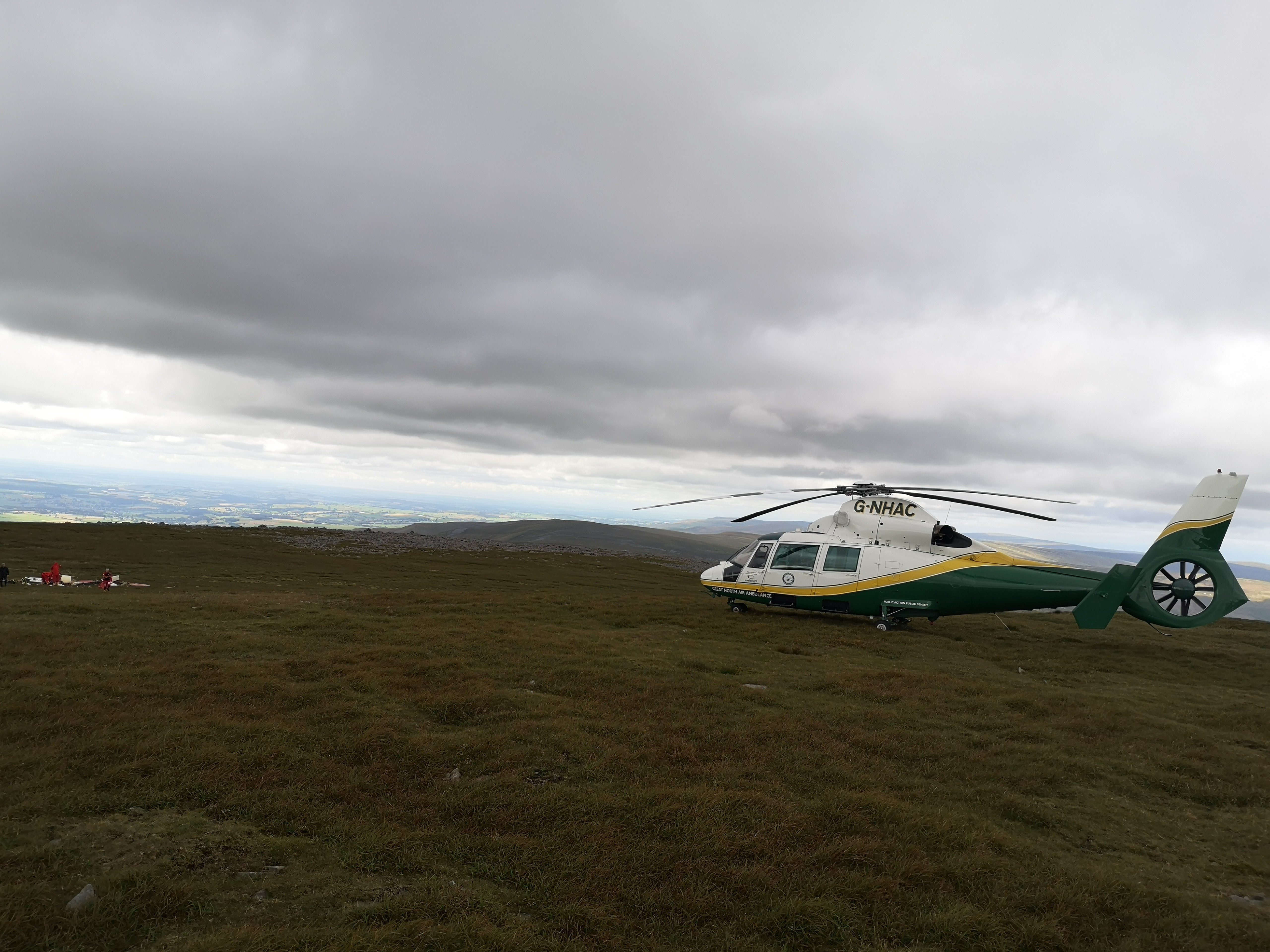 The crash site was almost at the highest point in the Pennines (GNAAS/PA)
