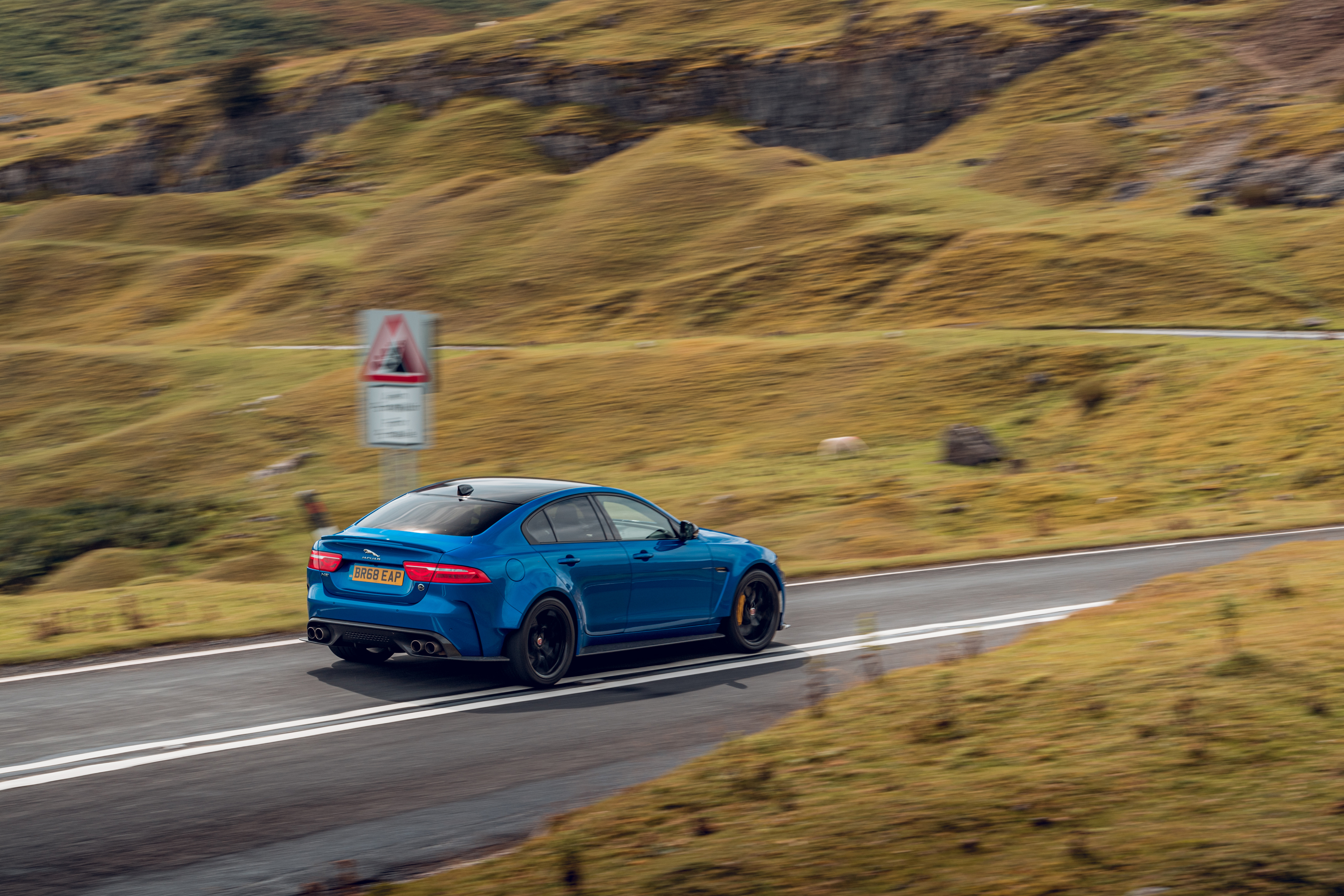 The Project 8 is remarkably composed on the road