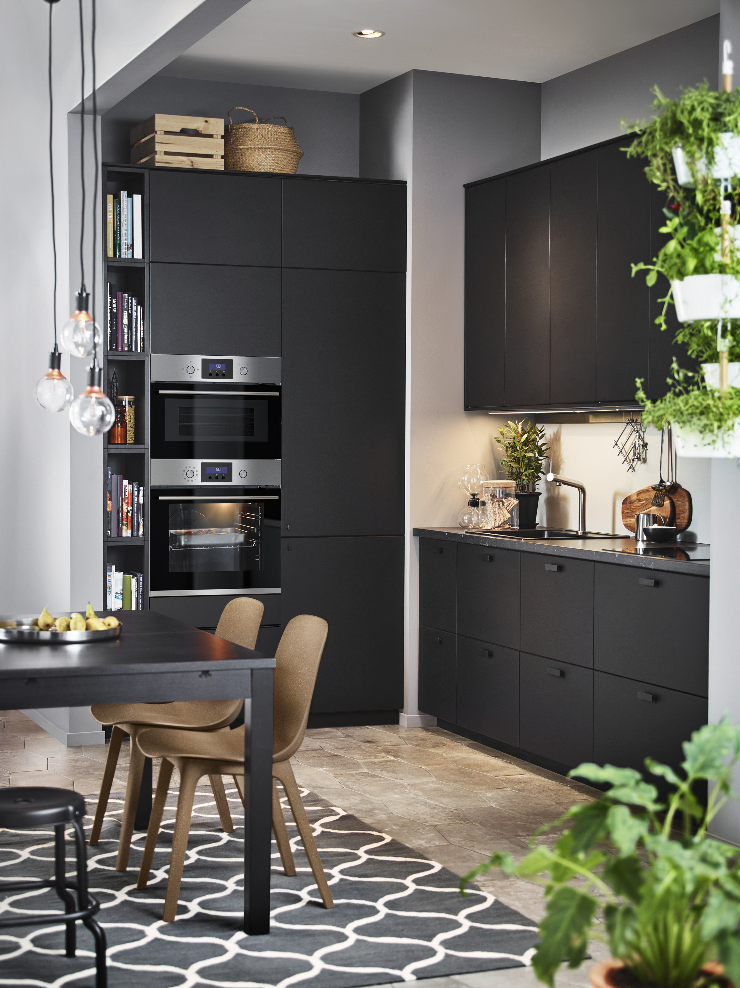 Kungsbacka kitchen cabinet doors are made from recycled wood and covered with a foil made from recycled plastic bottles. Doors start from £18, Ikea (Ikea/PA)
