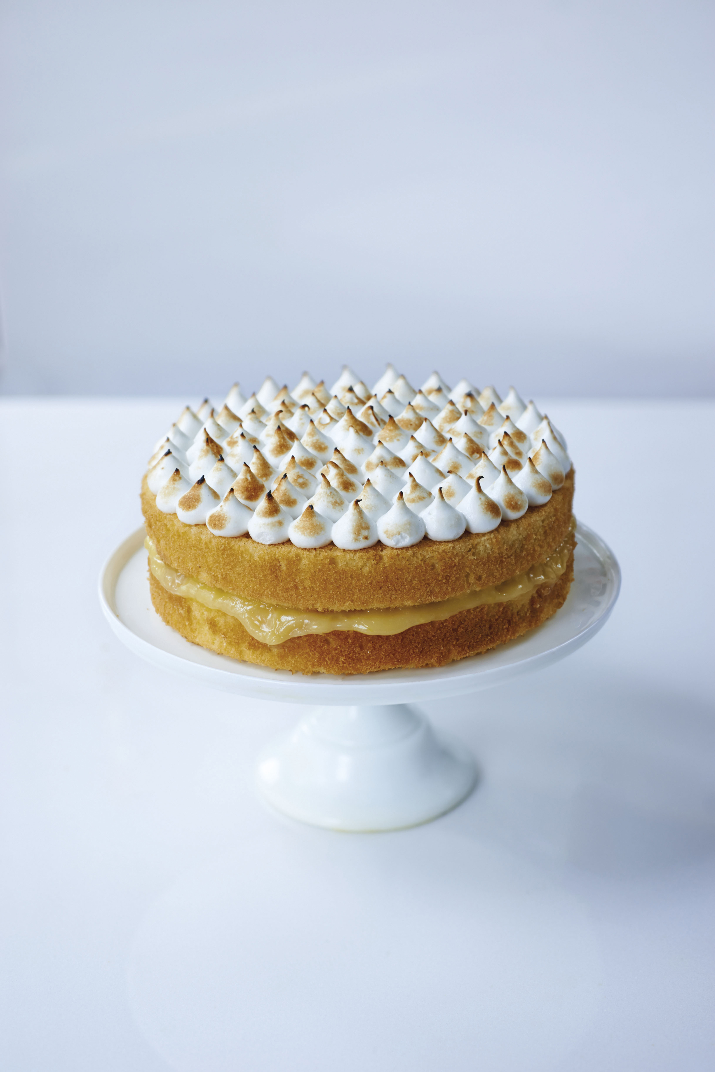 Lemon meringue cake from Leiths How To Cook Cake by Leith's School of Food and Wine (Quadrille/Peter Cassidy/PA)