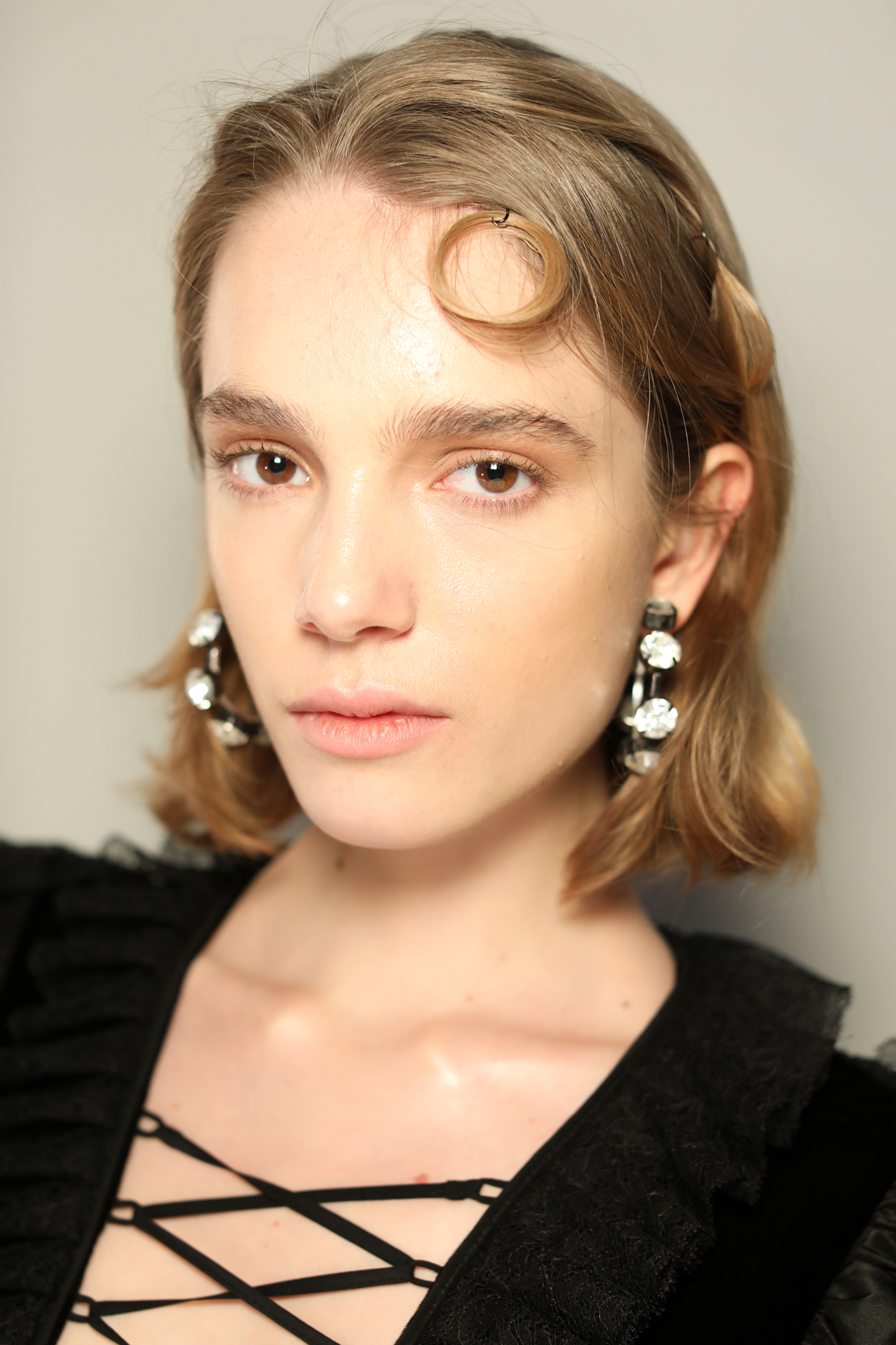 model backstage at Preen AW19