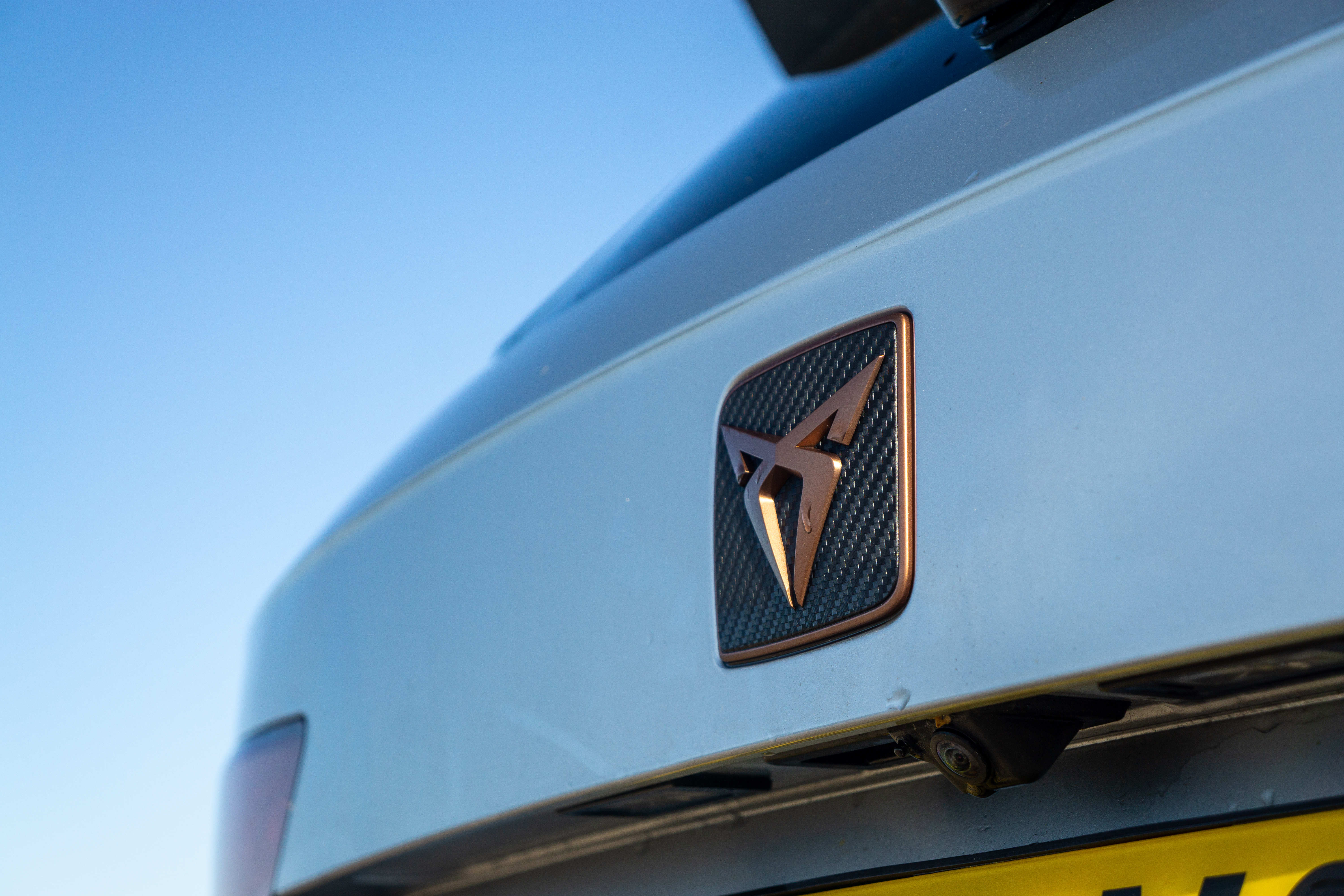 The rear of the car gets Cupra's new logo too