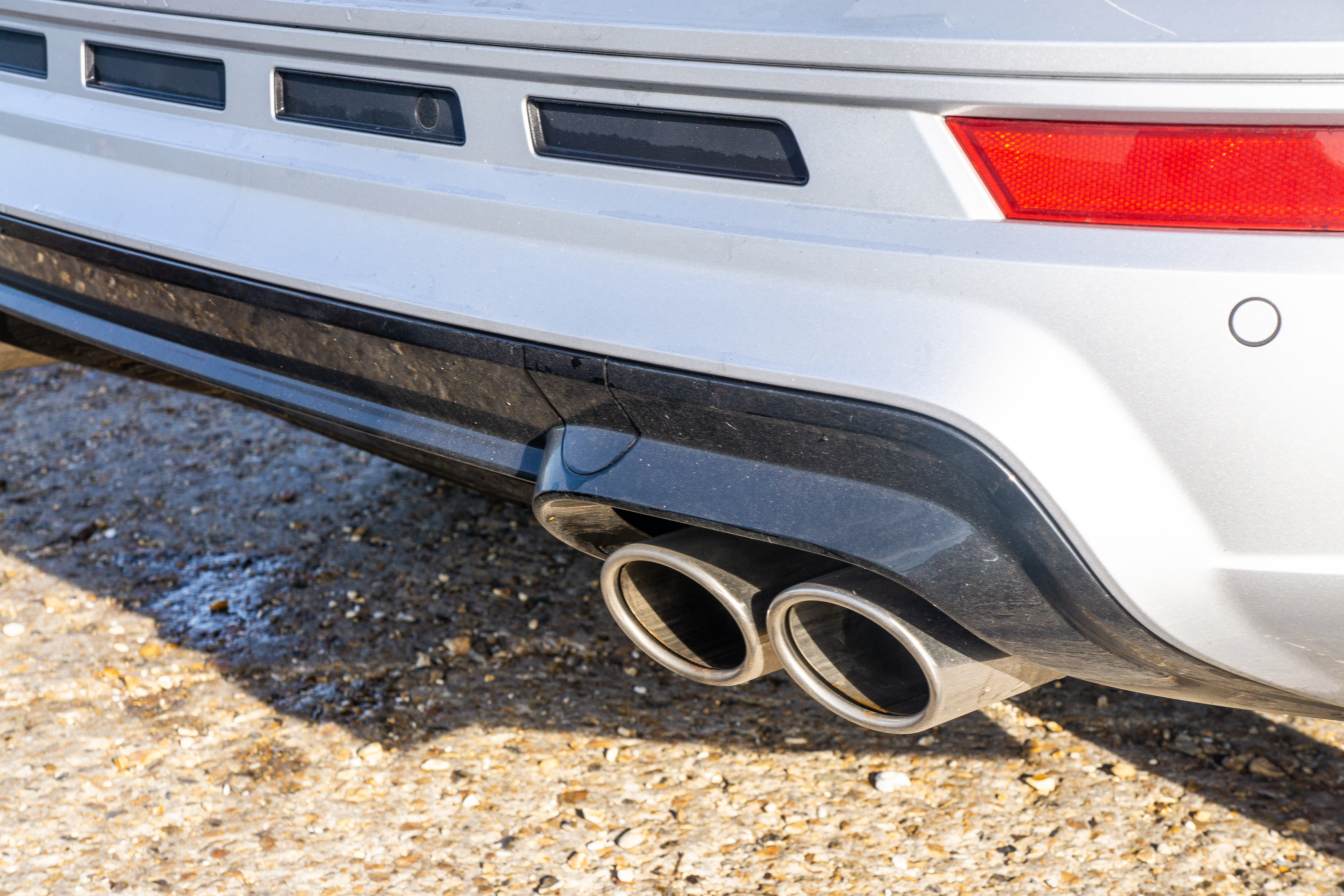 Quad exhausts hint at the car's performance