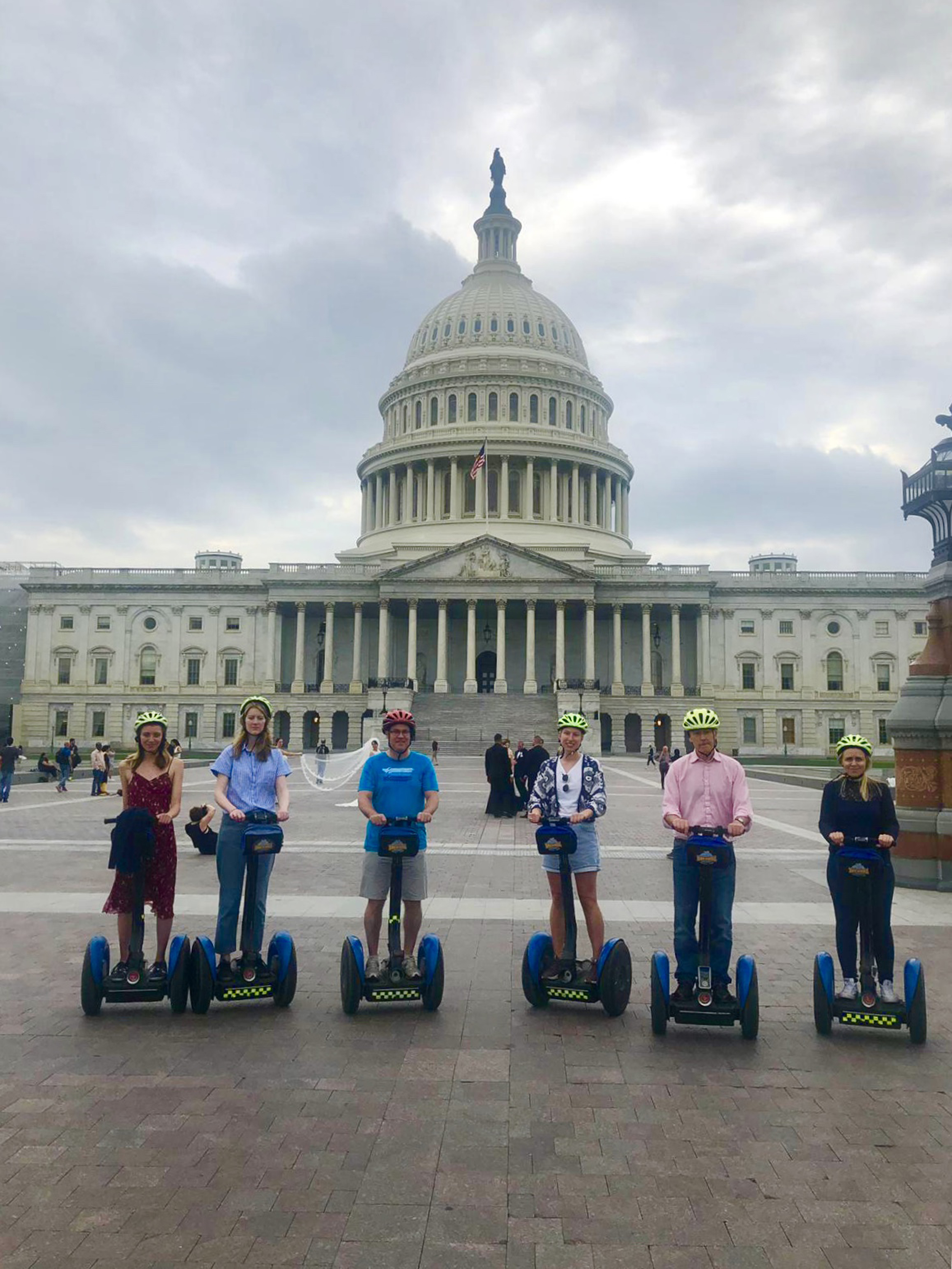 Bike and Roll DC offer guided Segway tours of Washington, DC (Emilia Harris/PA)