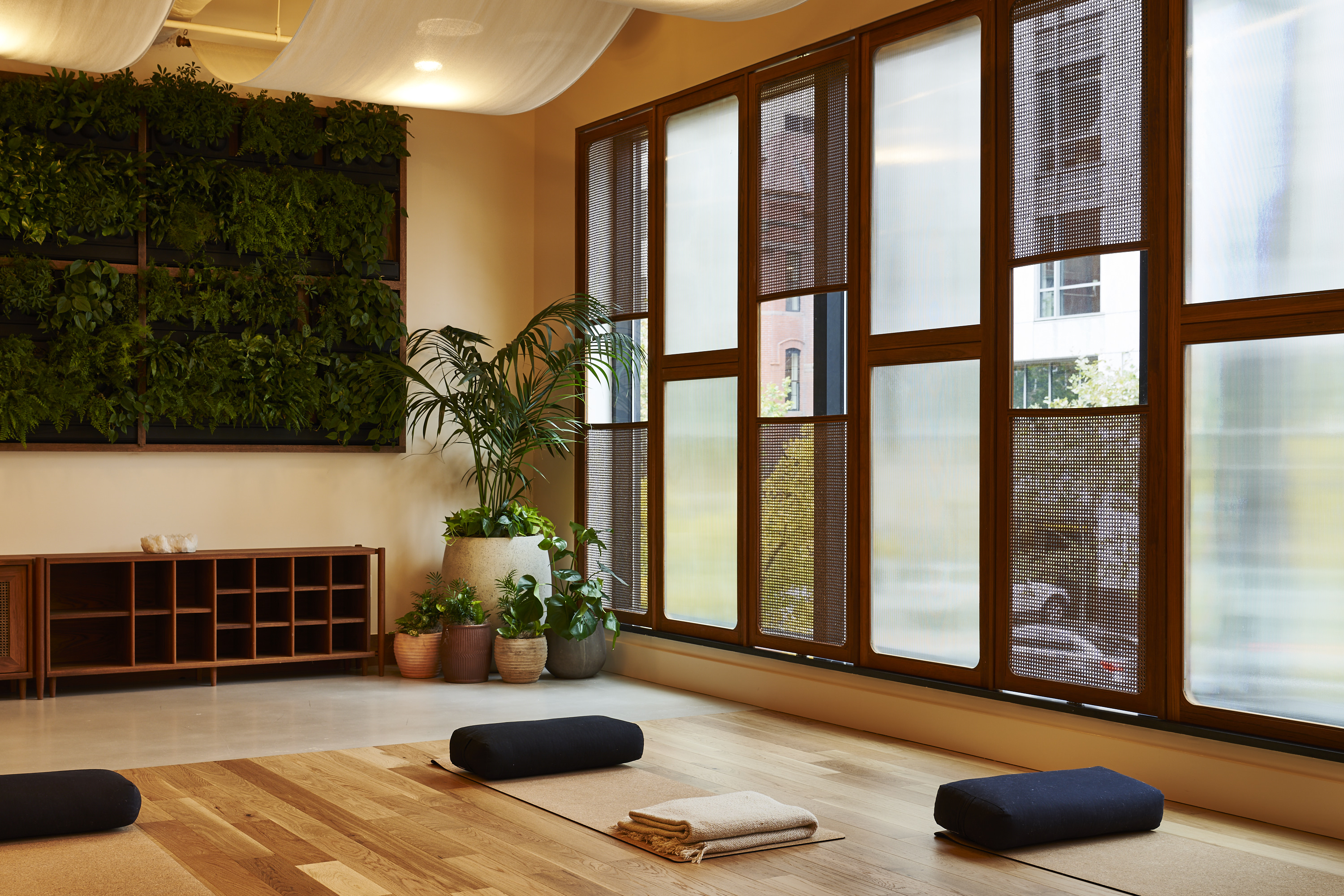 The Eaton DC's wellness and yoga room (Adrian Gaut/PA)