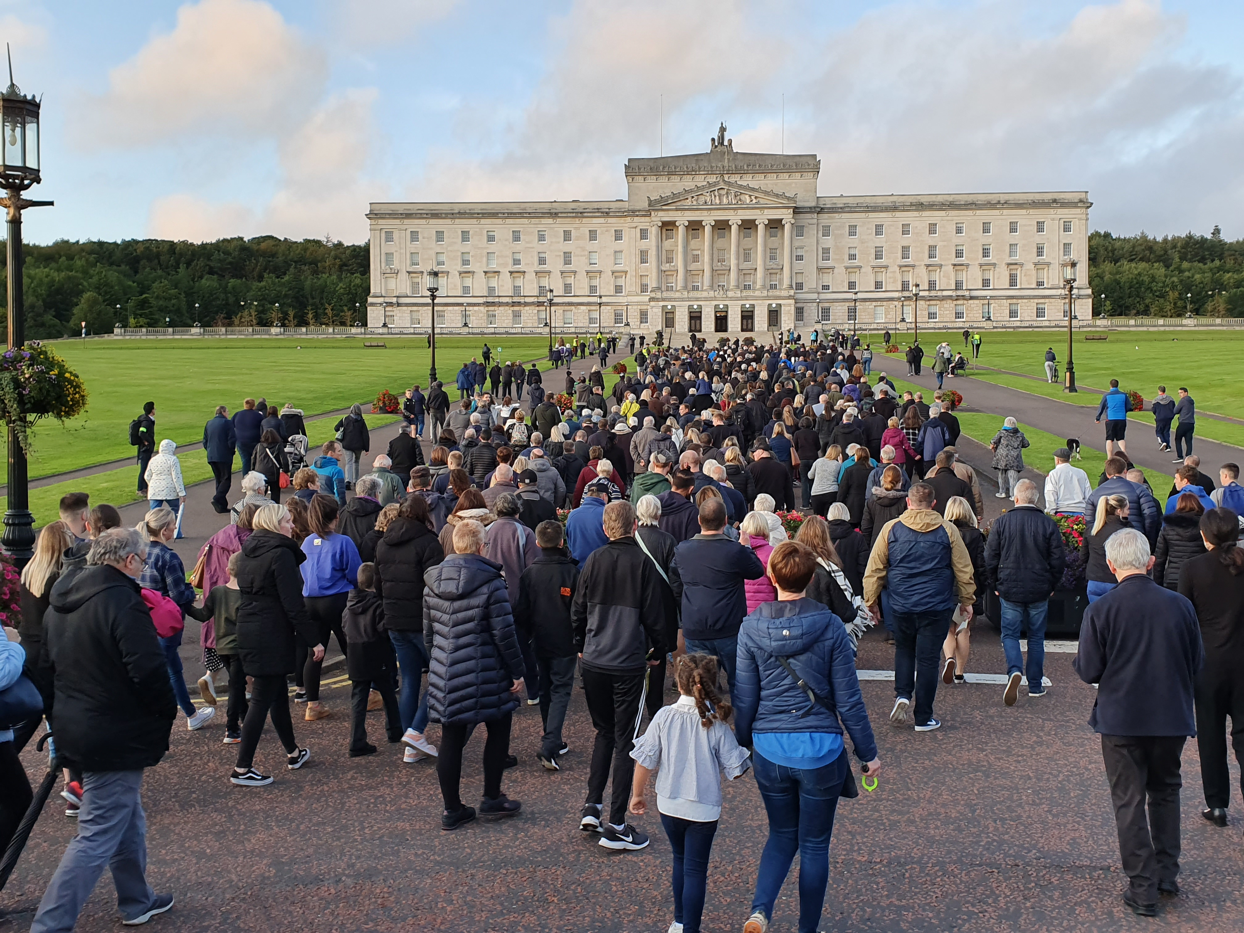 An estimated 4,000 people took part in the NI Voiceless demonstration