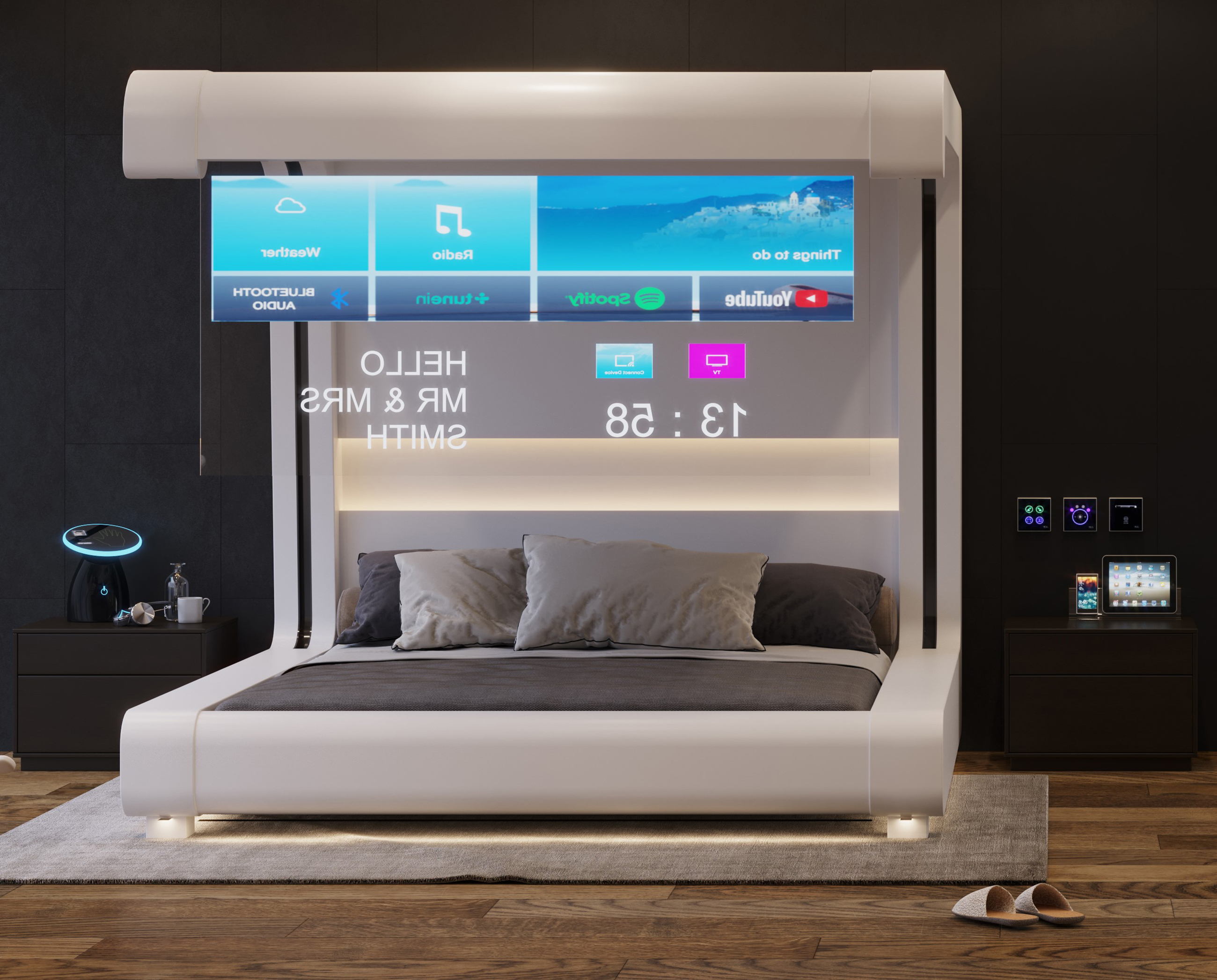 Glass TVs in future hotels